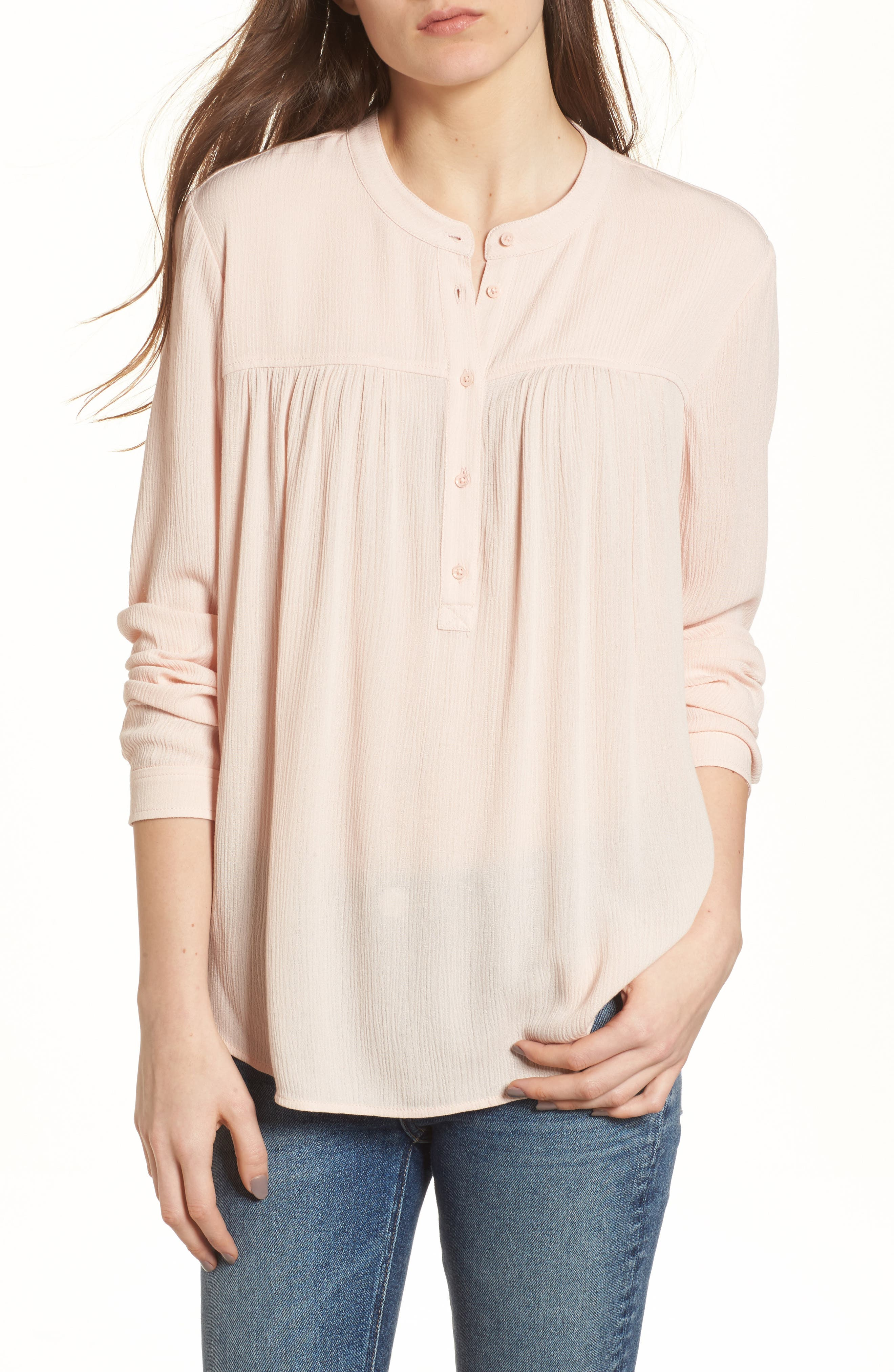 Jess Shirt,                         Main,                         color, Sweet Dawn