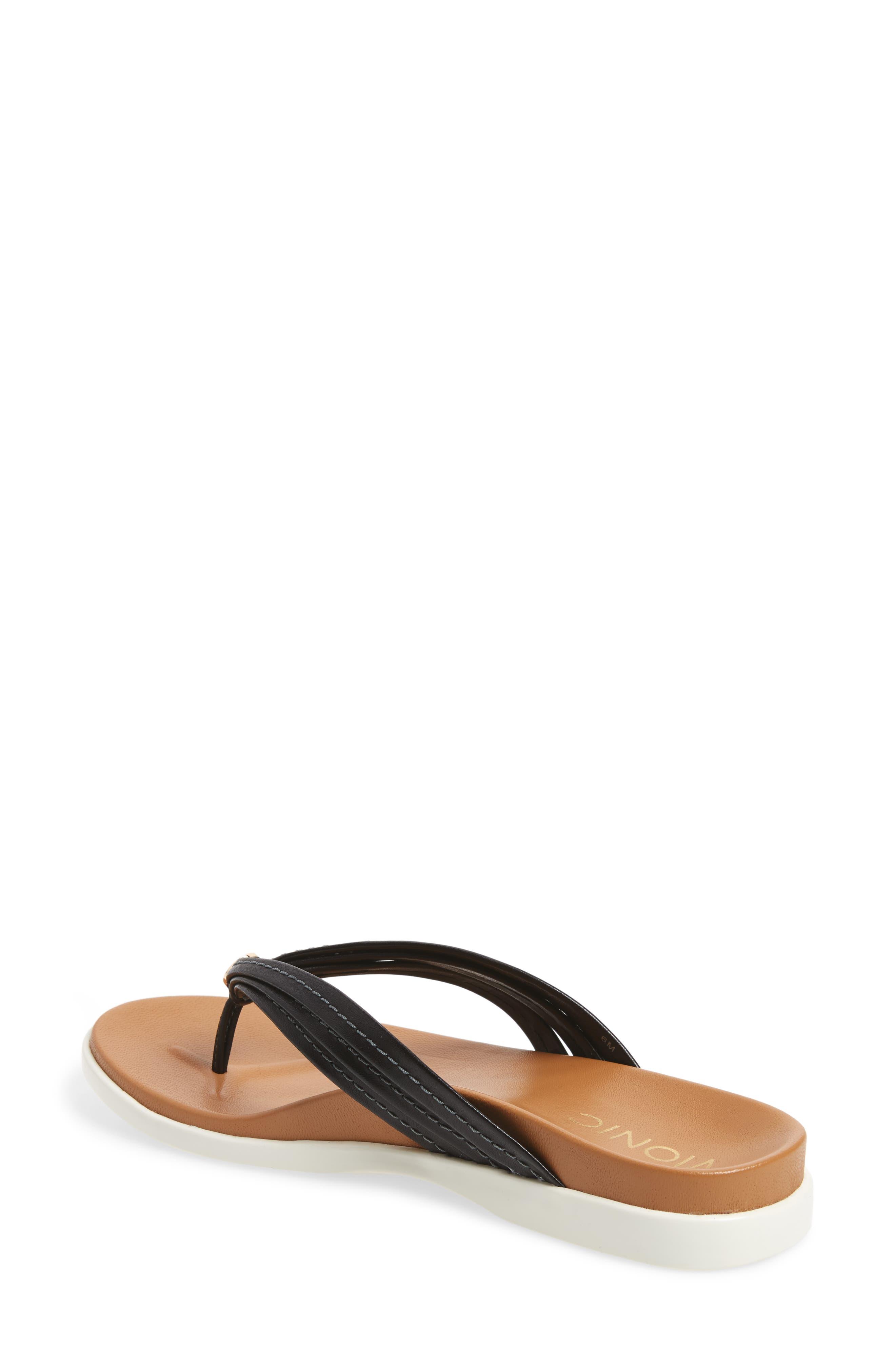 Catalina Flip Flop,                             Alternate thumbnail 2, color,                             Black Leather