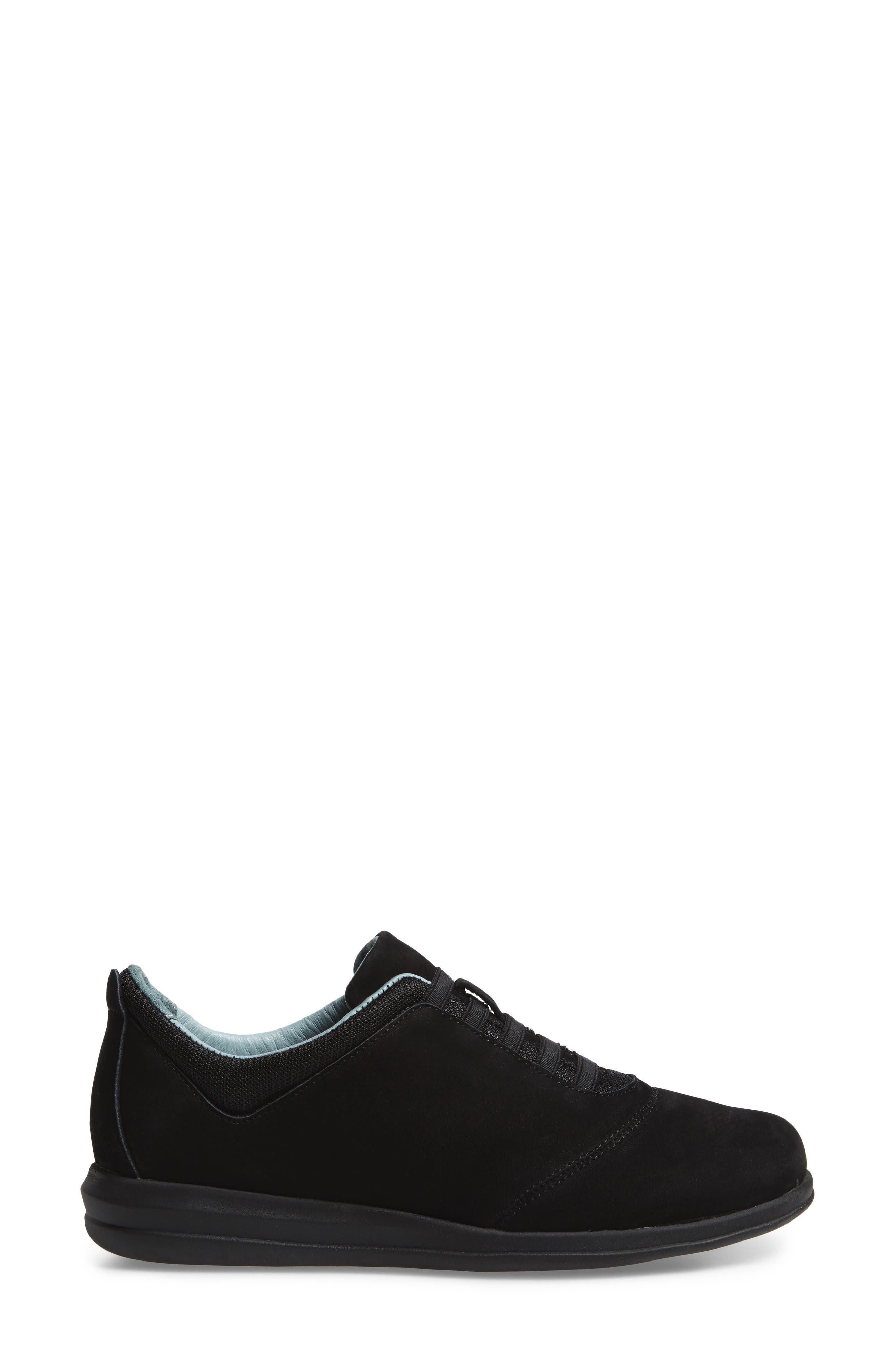 Dynamic Slip-On Sneaker,                             Alternate thumbnail 3, color,                             Black Nubuck