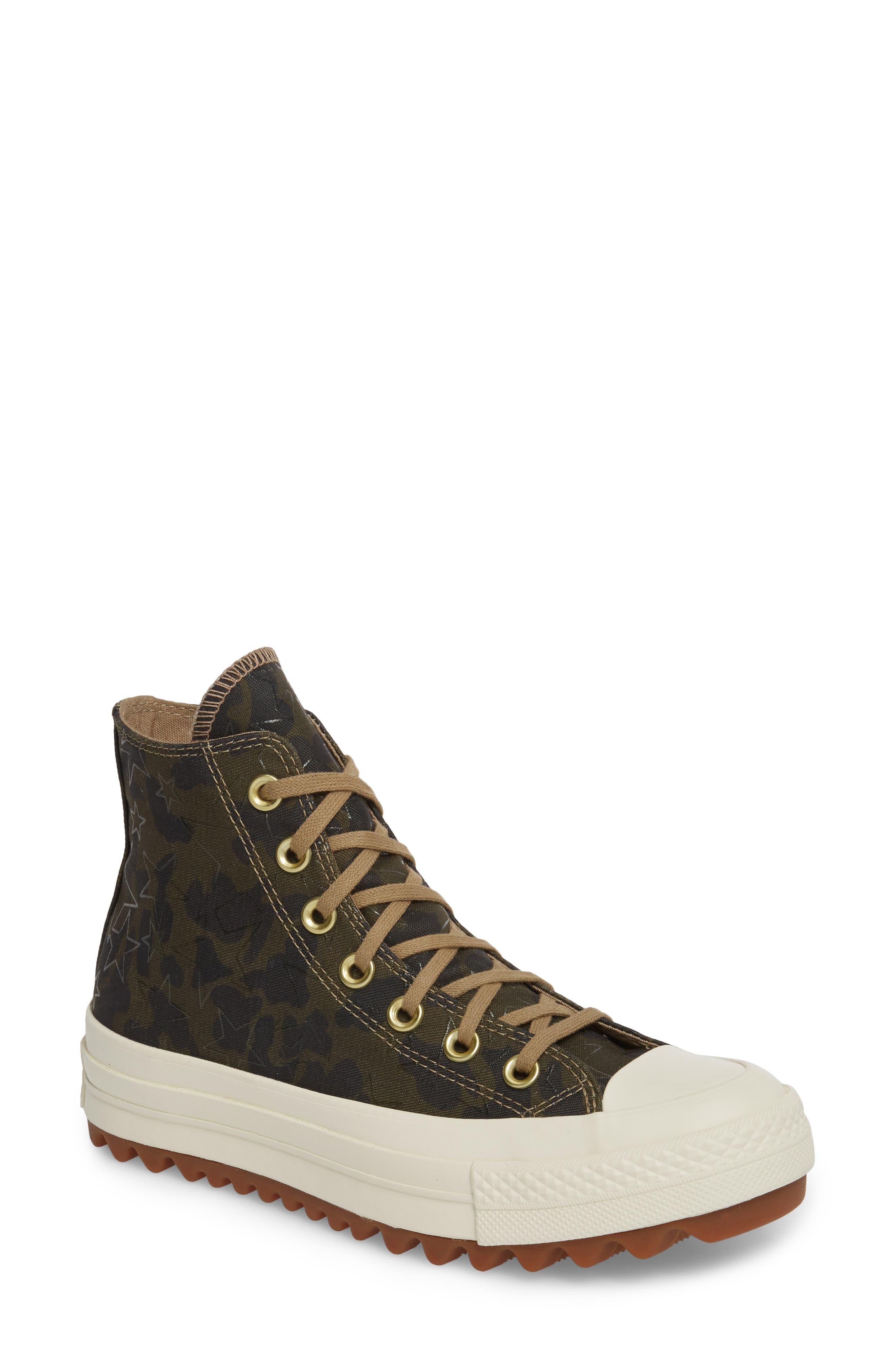 Alternate Image 1 Selected - Converse Chuck Taylor® All Star® Lift Ripple High Top Sneaker (Women)