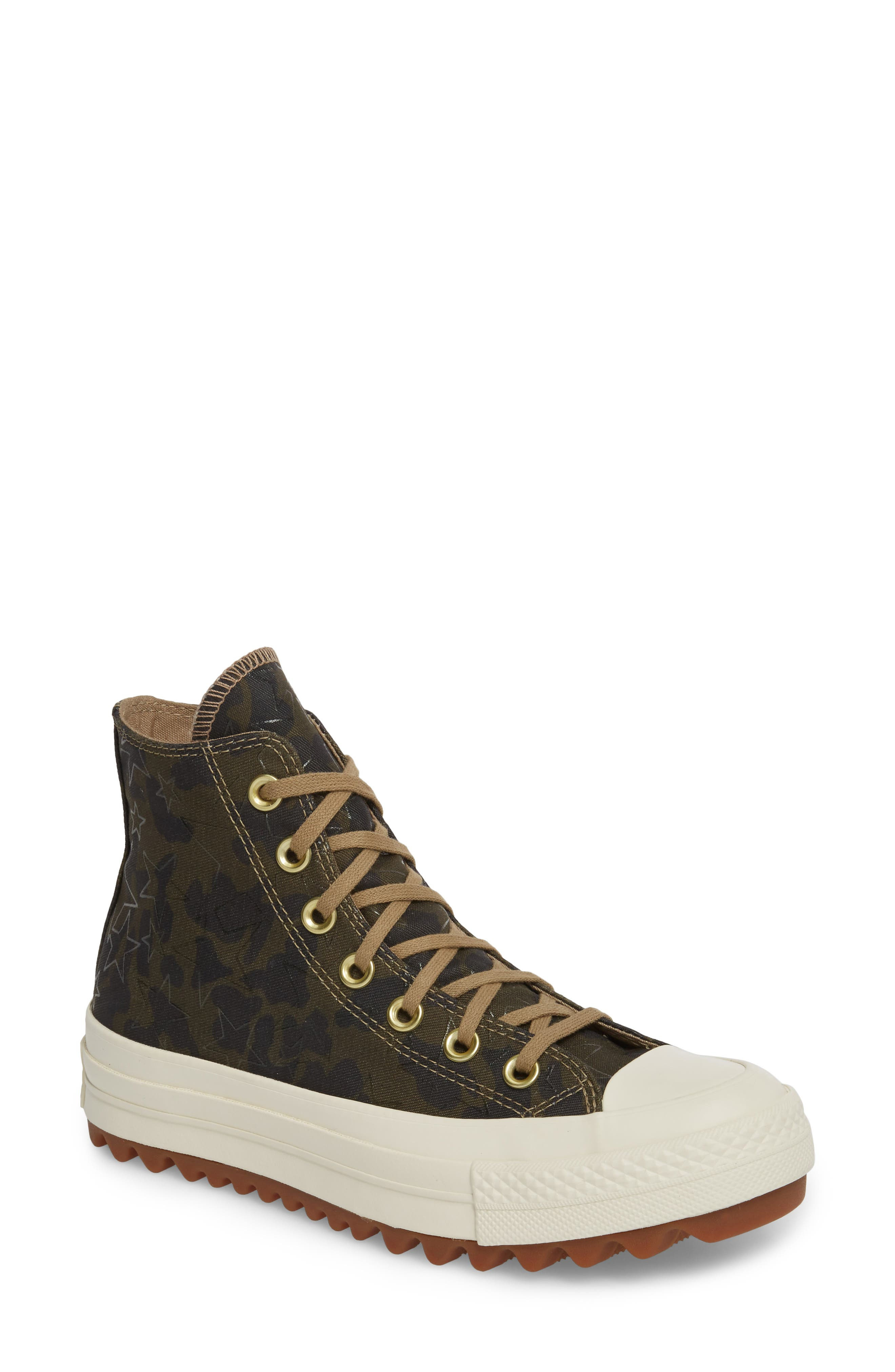 Chuck Taylor<sup>®</sup> All Star<sup>®</sup> Lift Ripple High Top Sneaker,                         Main,                         color, Khaki