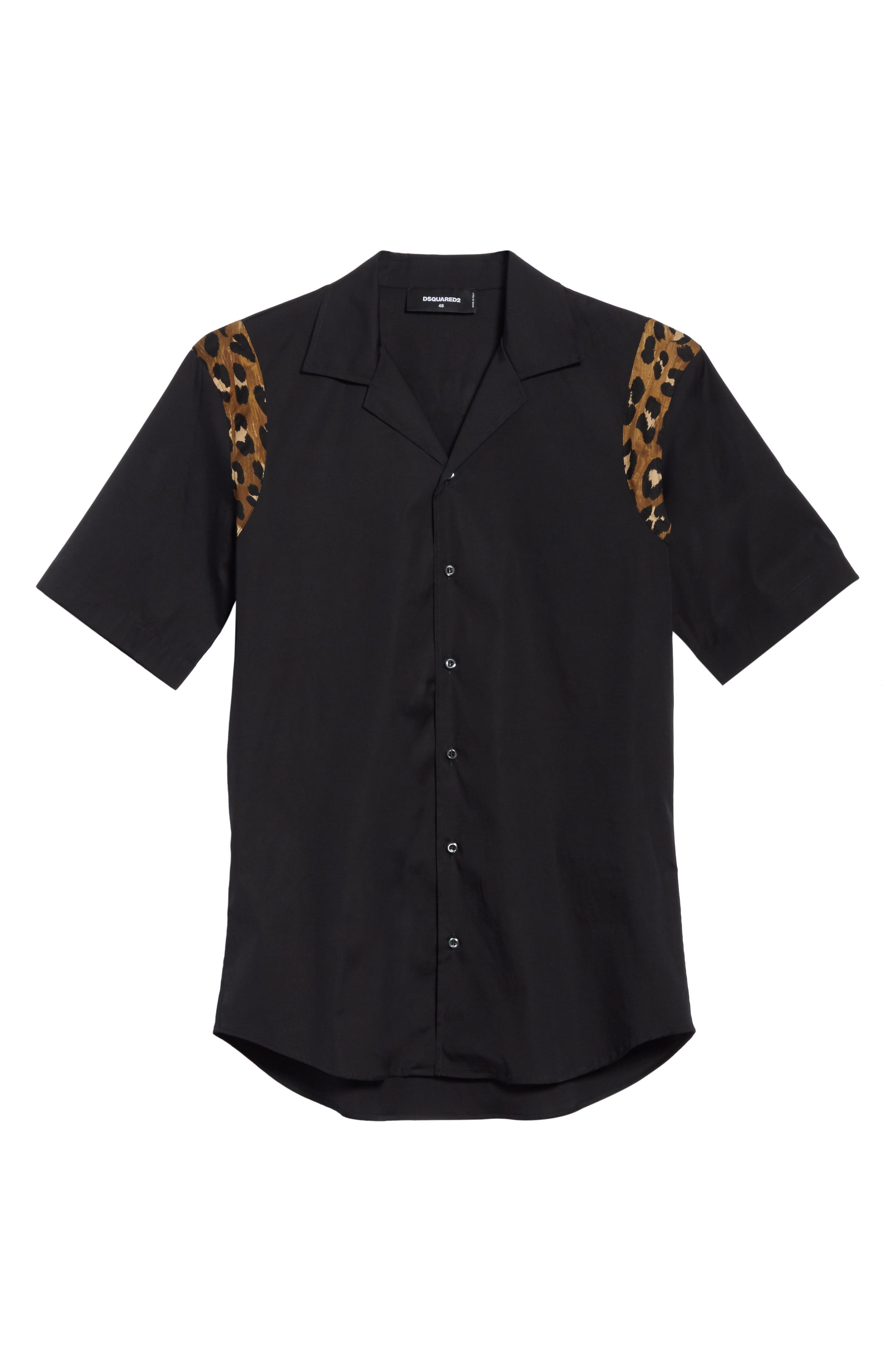 Bowling Shirt,                             Alternate thumbnail 6, color,                             Black