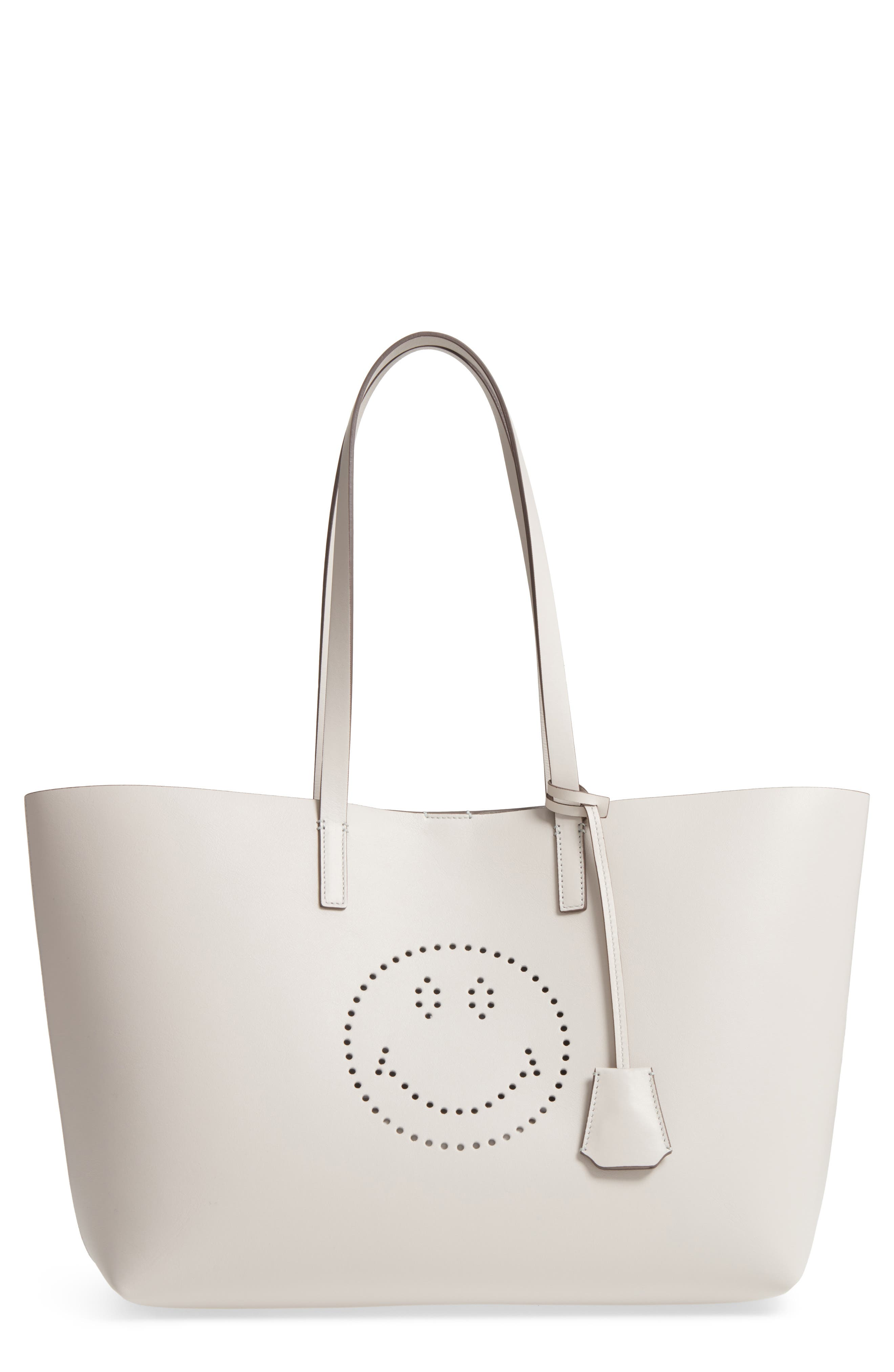 Ebury Smiley Leather Tote,                             Main thumbnail 1, color,                             Steam