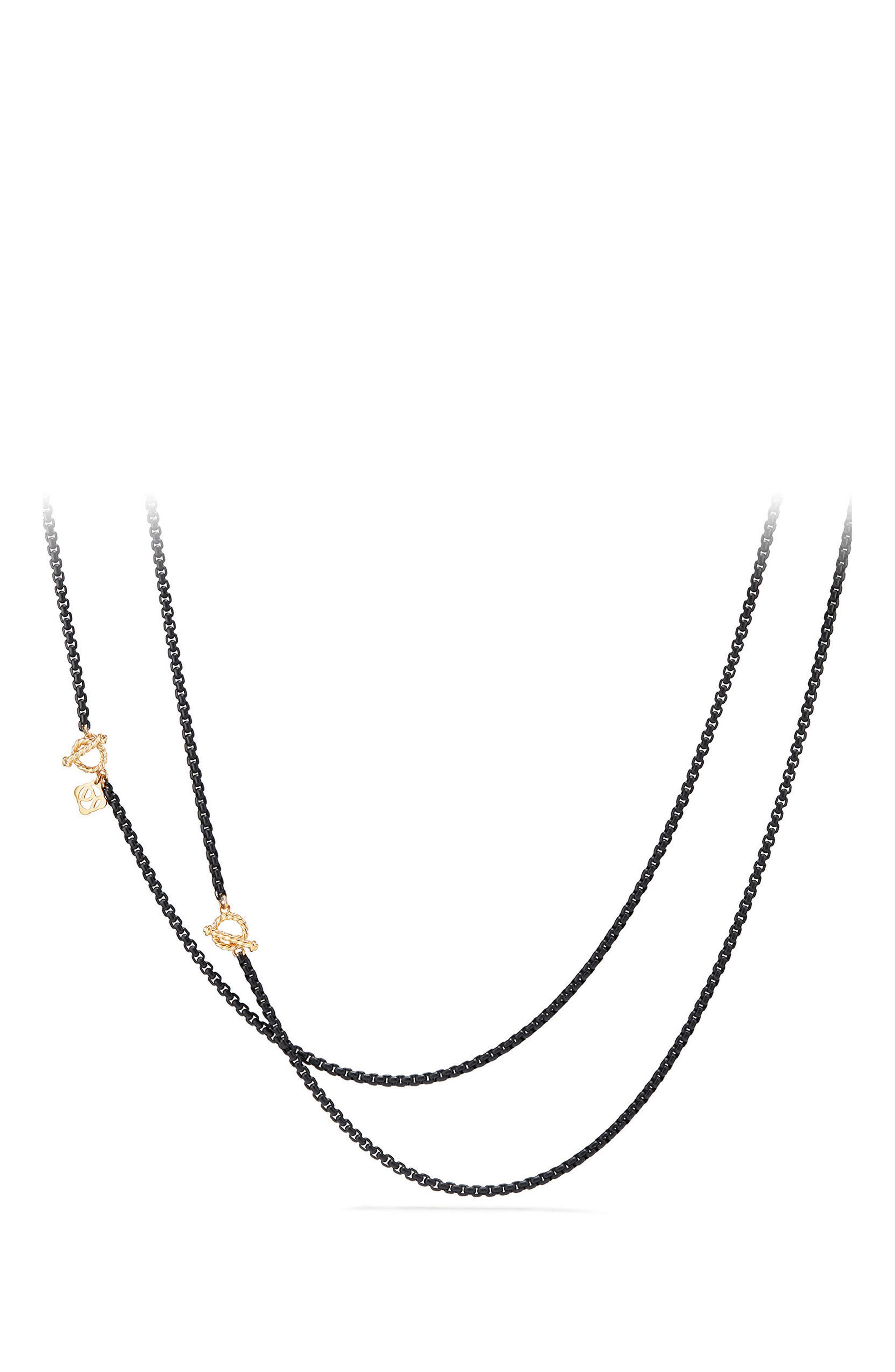 David Yurman DY Bel Aire Chain Necklace with 14K Gold Accents