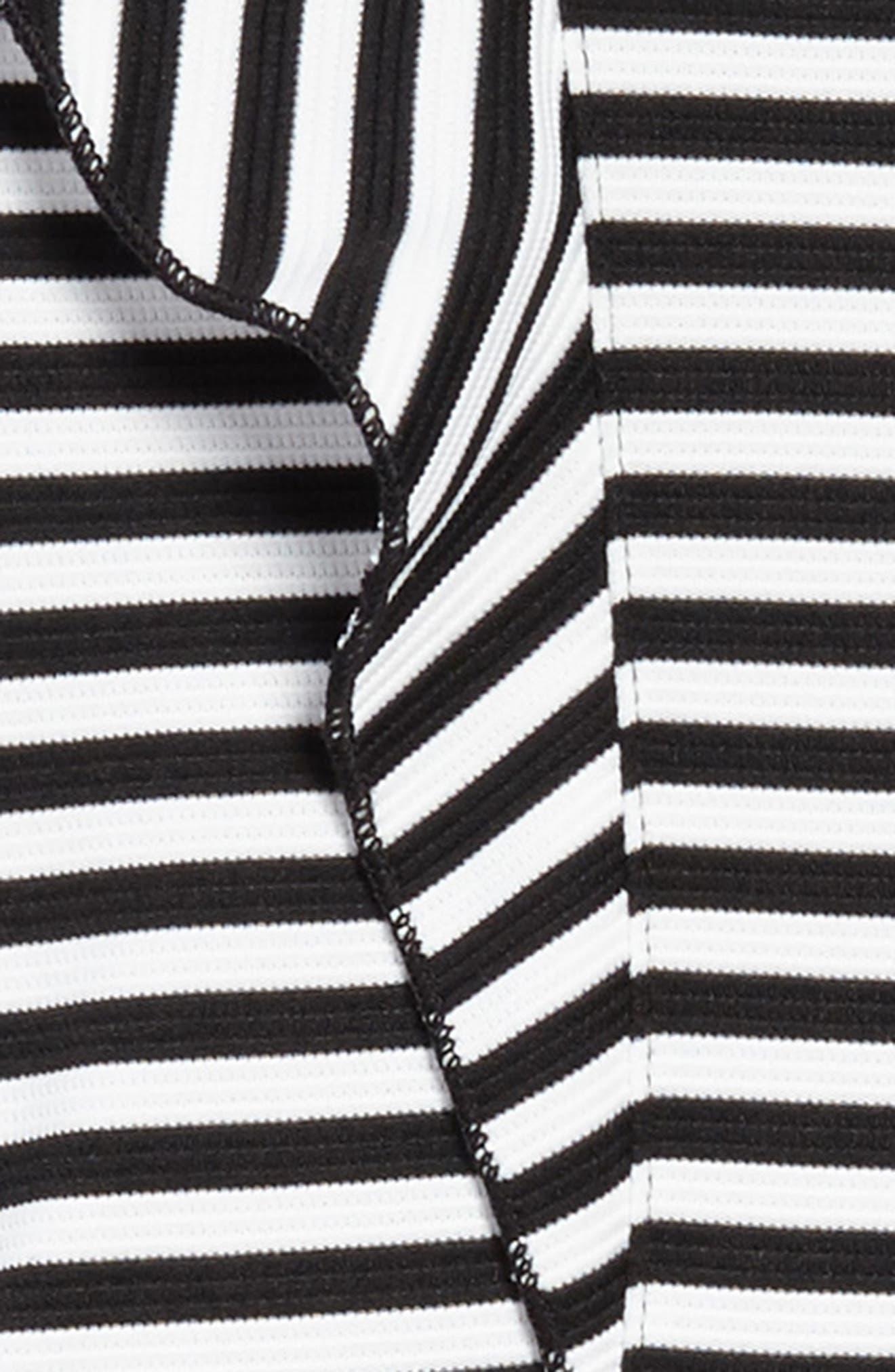 Stripe Skater Dress,                             Alternate thumbnail 3, color,                             Black