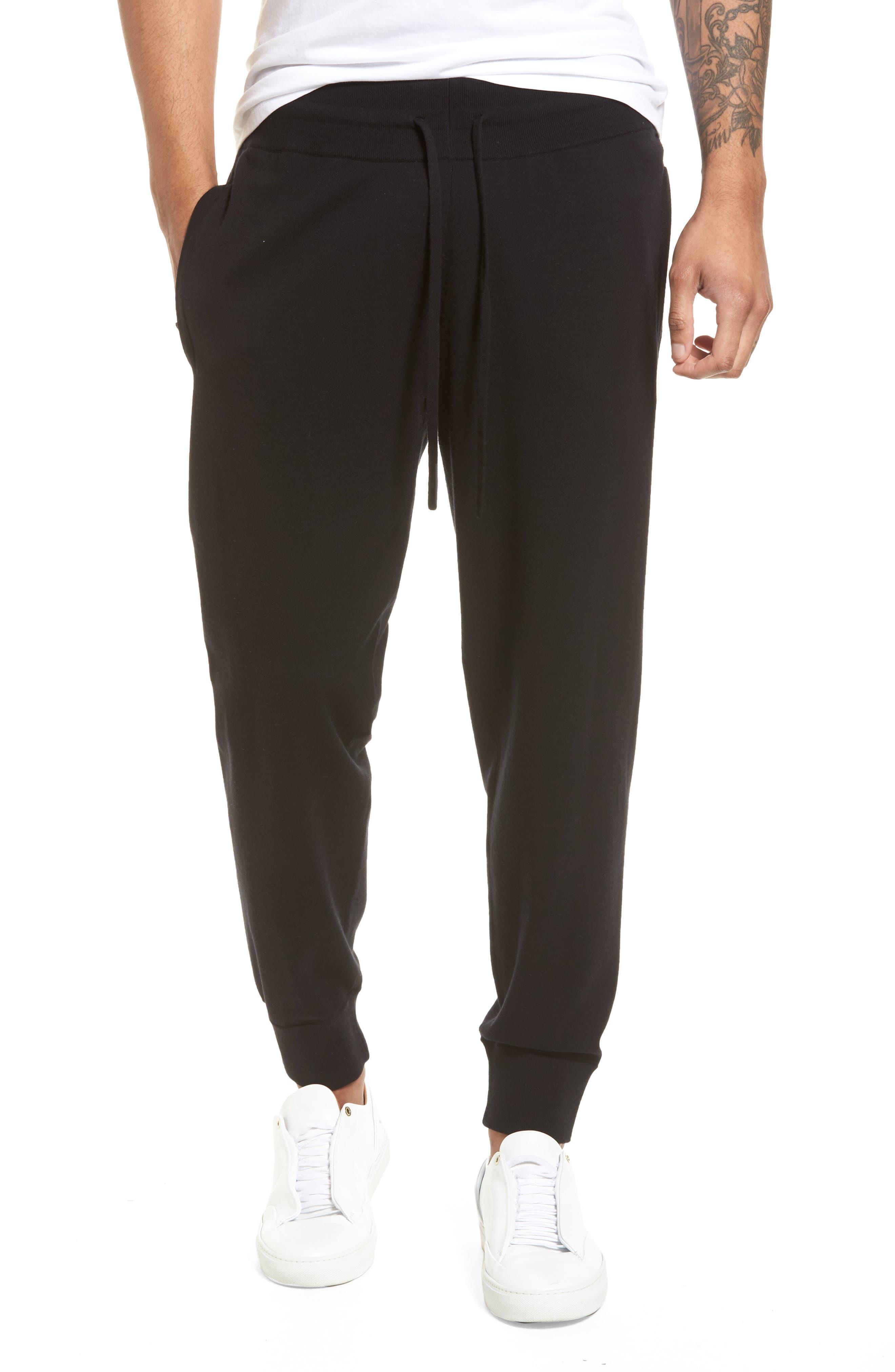 Slim Fit Jogger Pants,                             Main thumbnail 1, color,                             Black