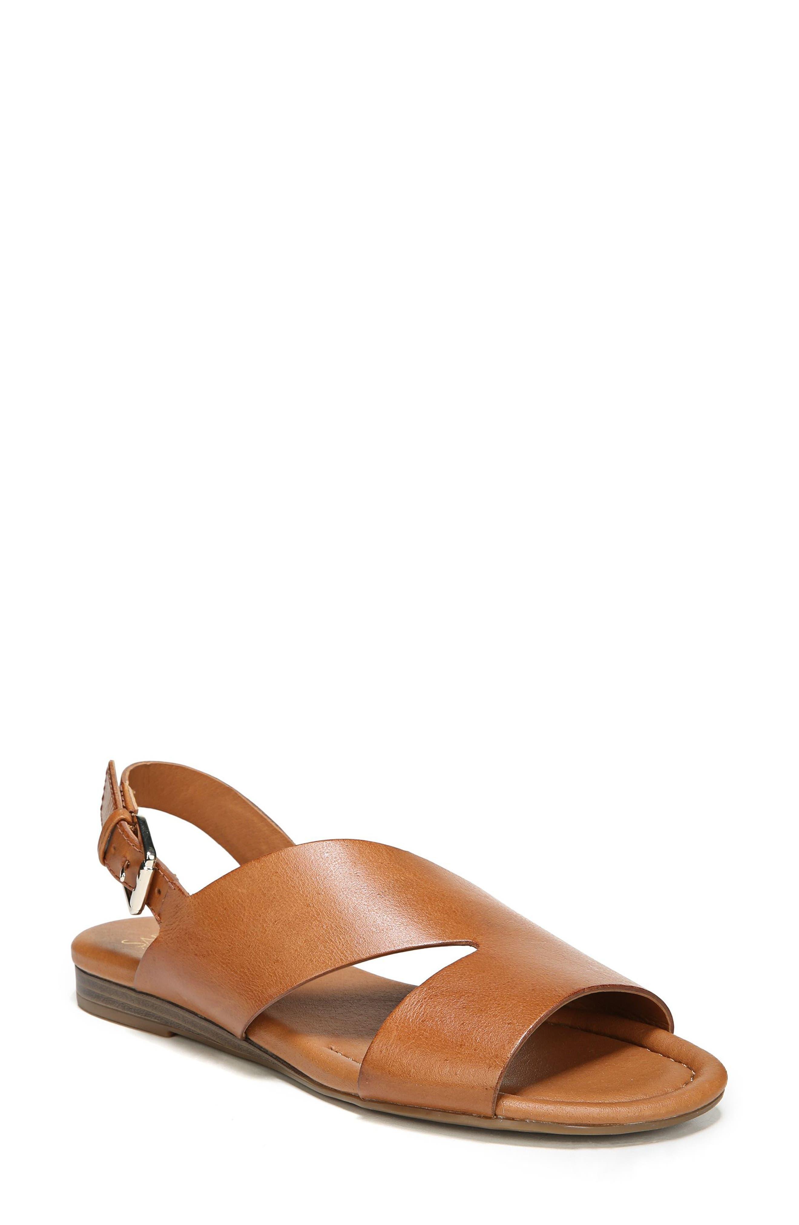 Garza Slingback Sandal,                             Main thumbnail 1, color,                             Tan Leather