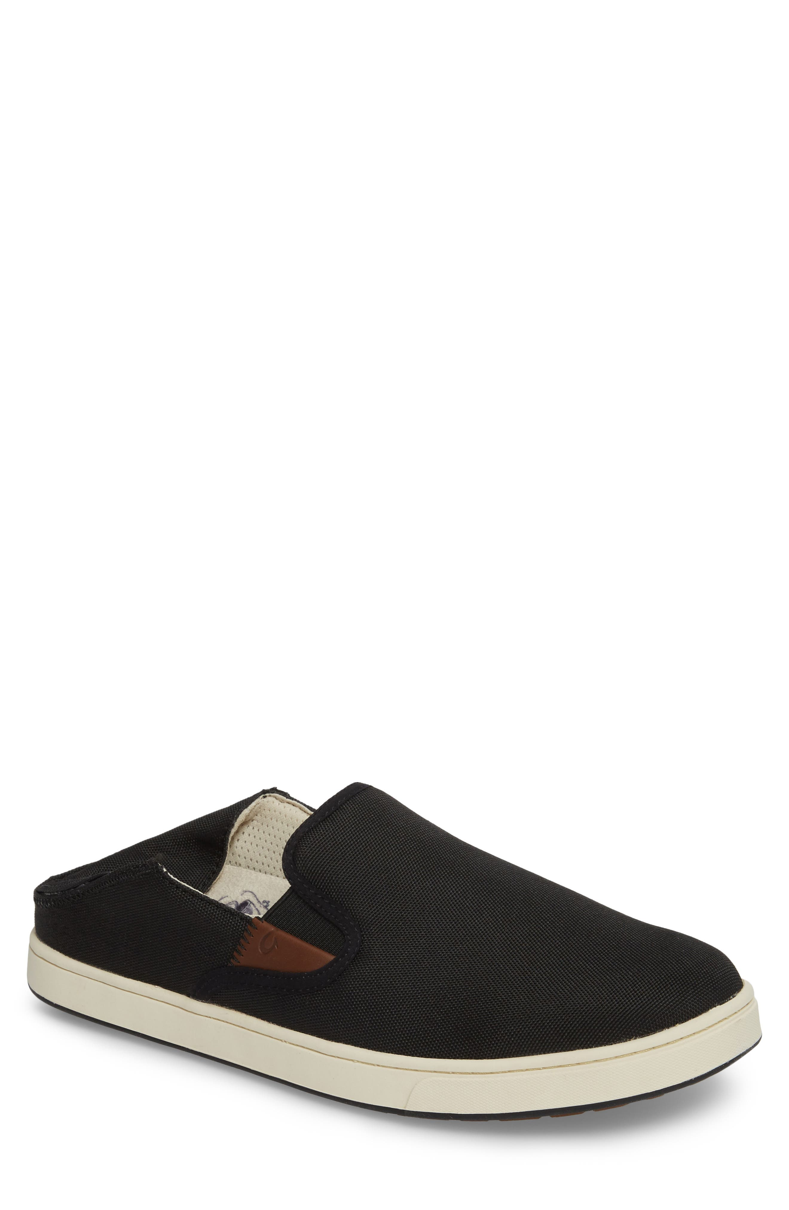 Kahu Collapsible Slip-On Sneaker,                         Main,                         color, Black/ Off White
