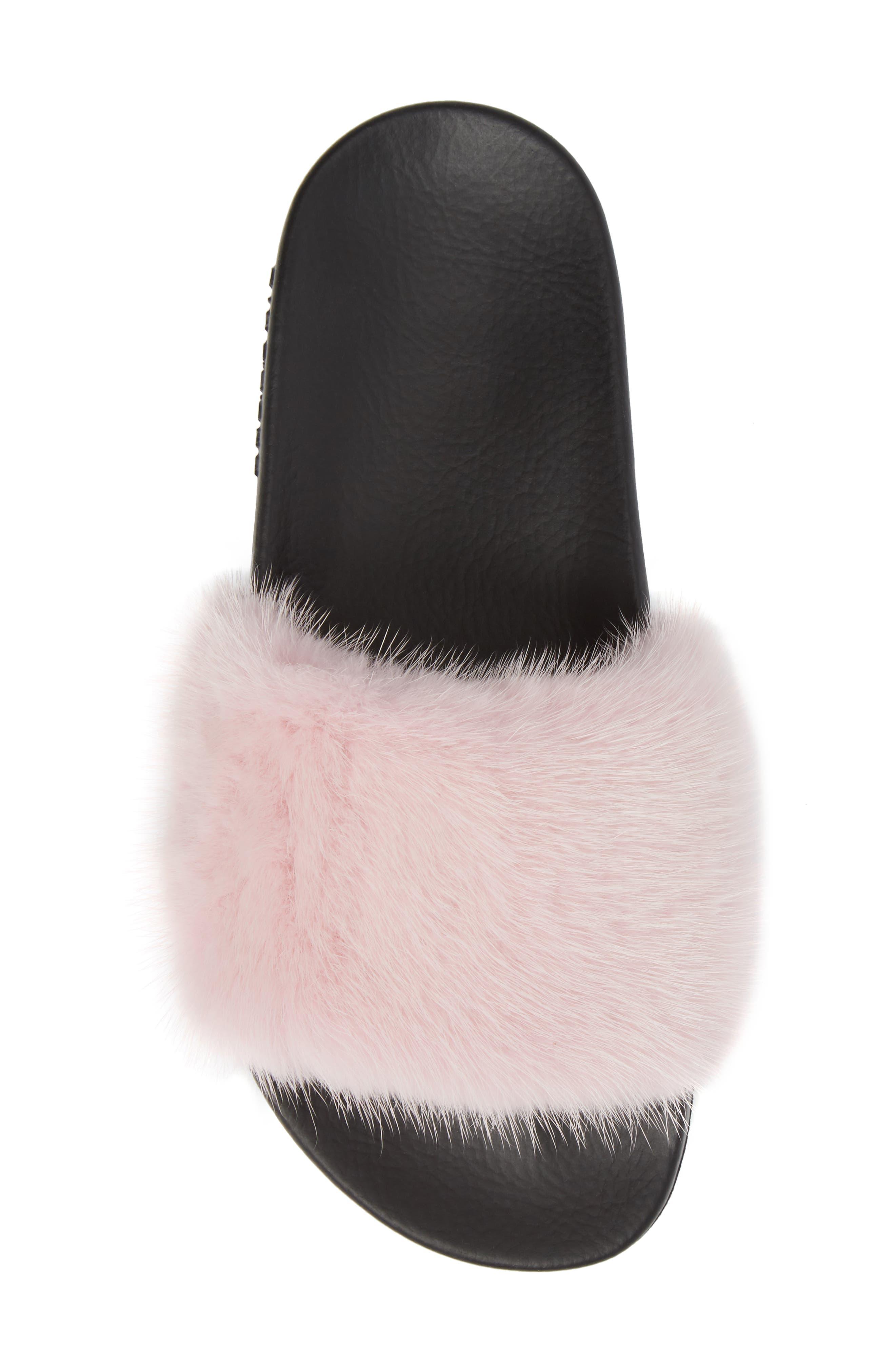 Alternate Image 5  - Givenchy Genuine Mink Fur Slide Sandal (Women)