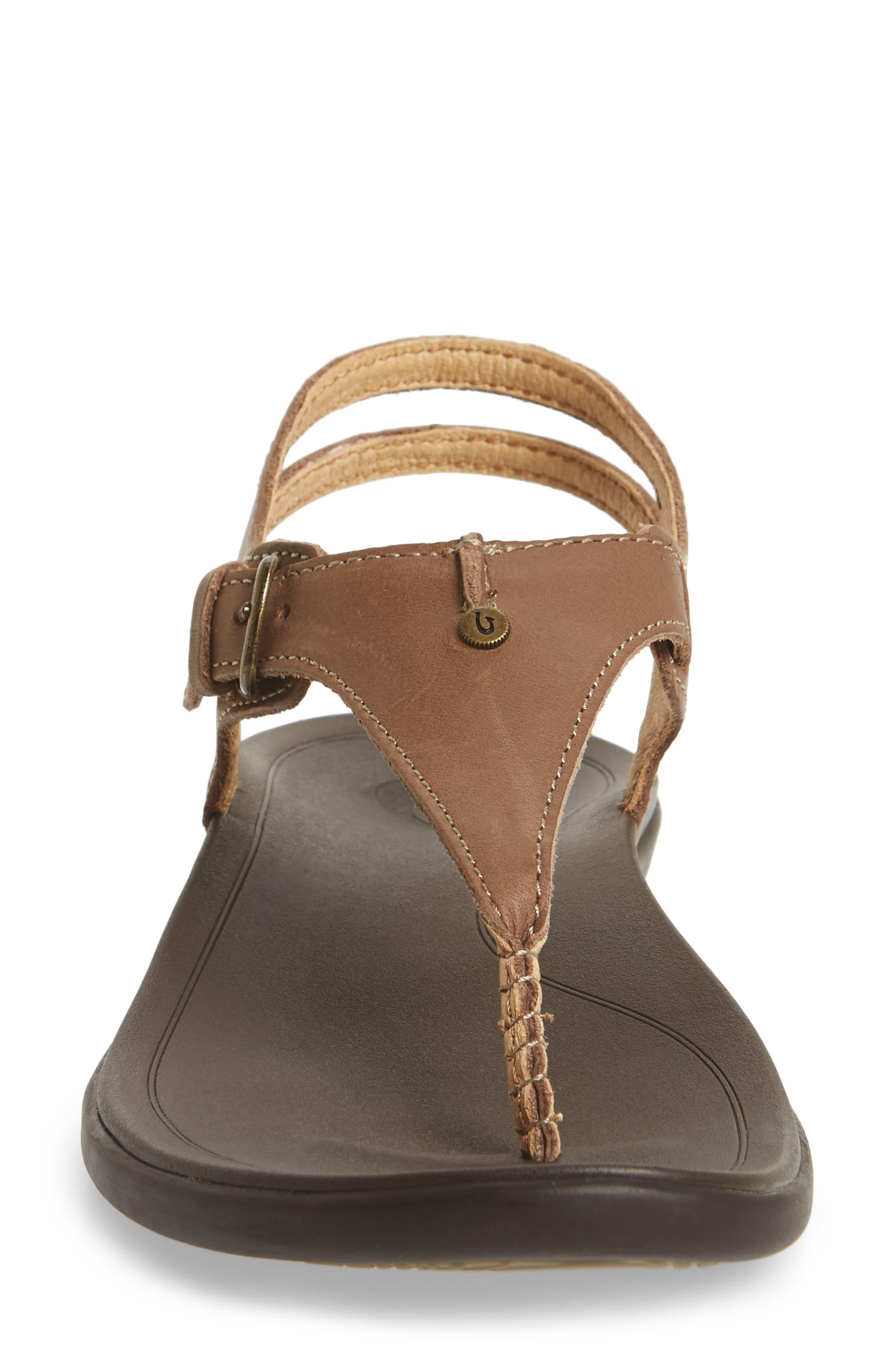'Eheu V-Strap Sandal,                             Alternate thumbnail 5, color,                             Clay/ Dark Java Leather