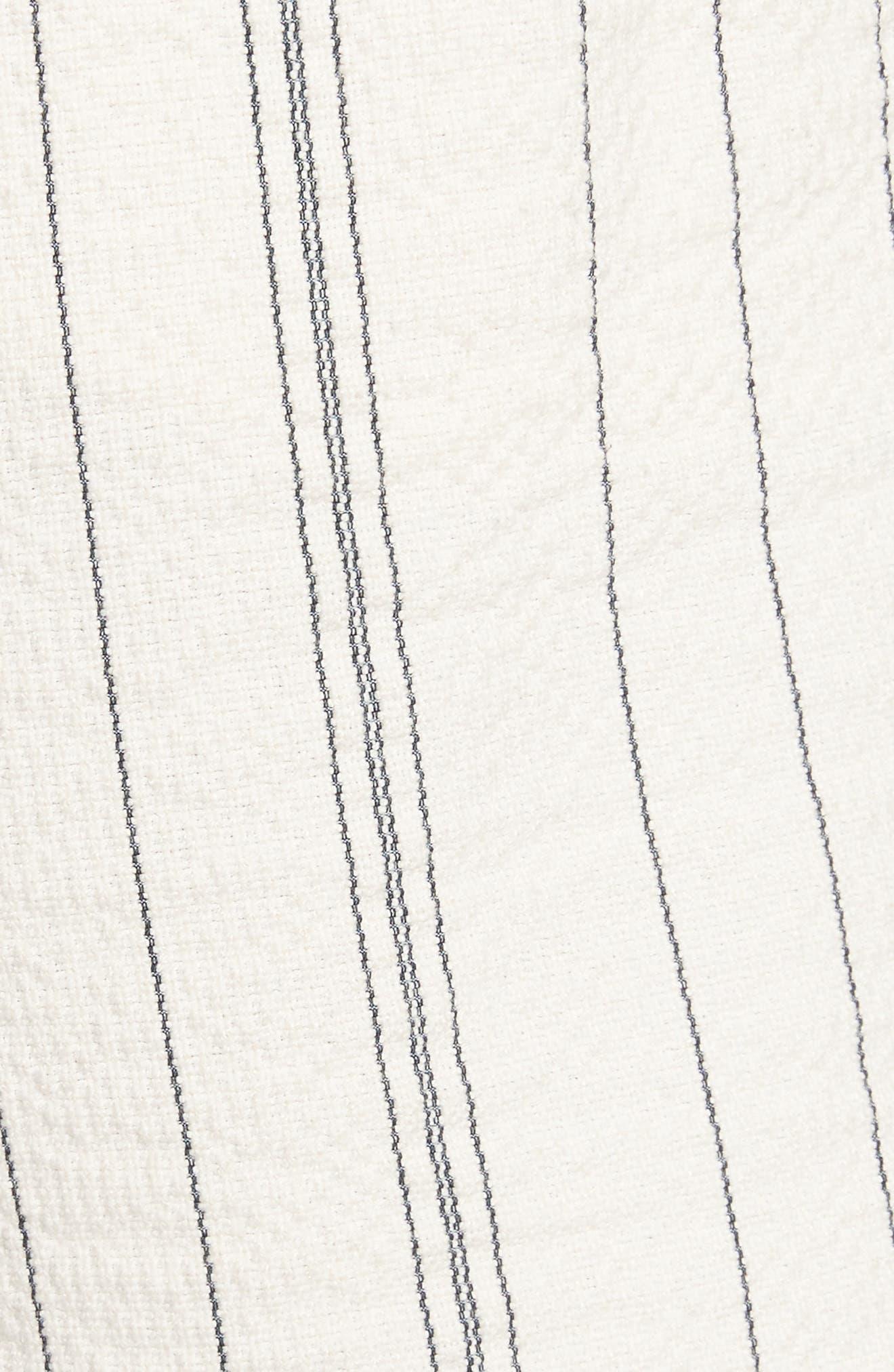 Stripe Shorts,                             Alternate thumbnail 6, color,                             White/ Black