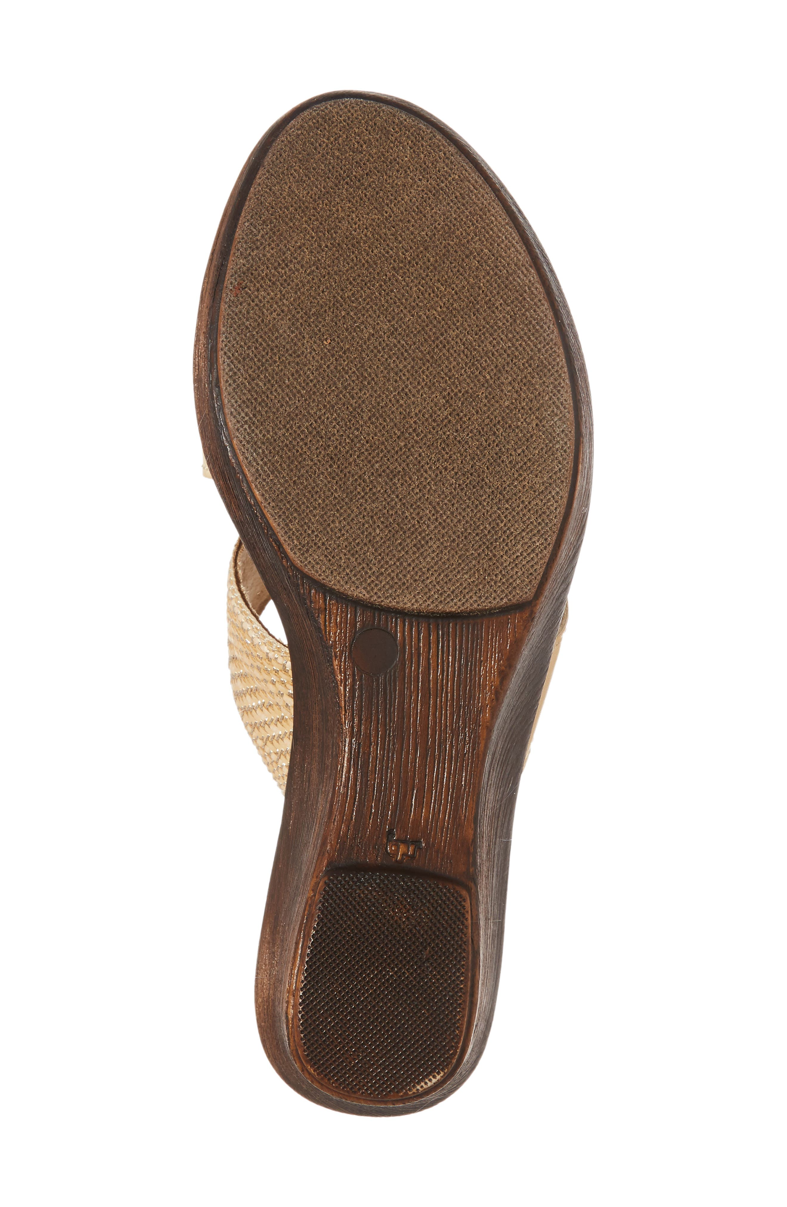 by Easy Street<sup>®</sup> Positano Sandal,                             Alternate thumbnail 6, color,                             Beige/ Woven Faux Leather