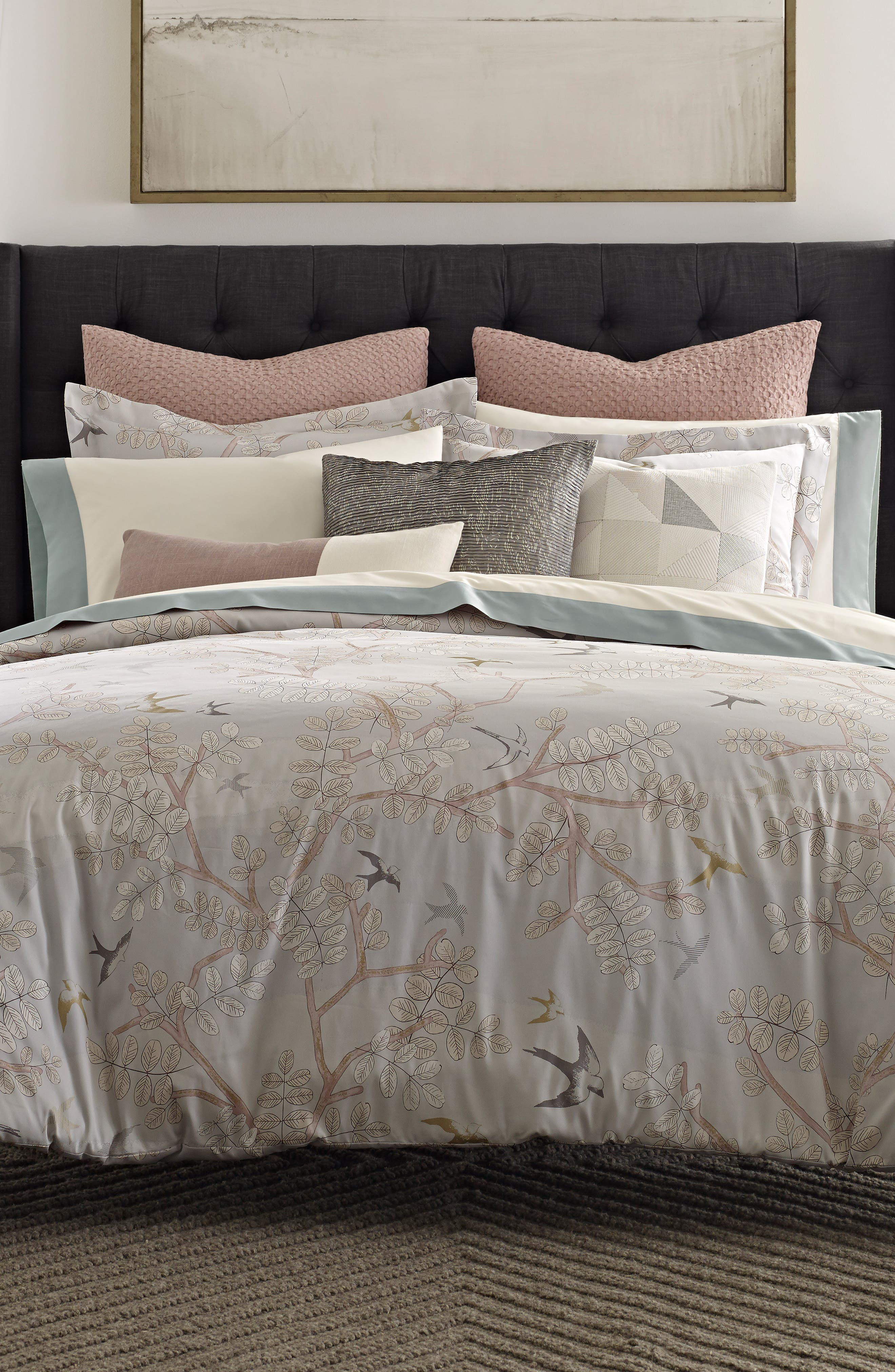 Margot 300 Thread Count Comforter,                             Alternate thumbnail 3, color,                             Light/ Pastel Grey