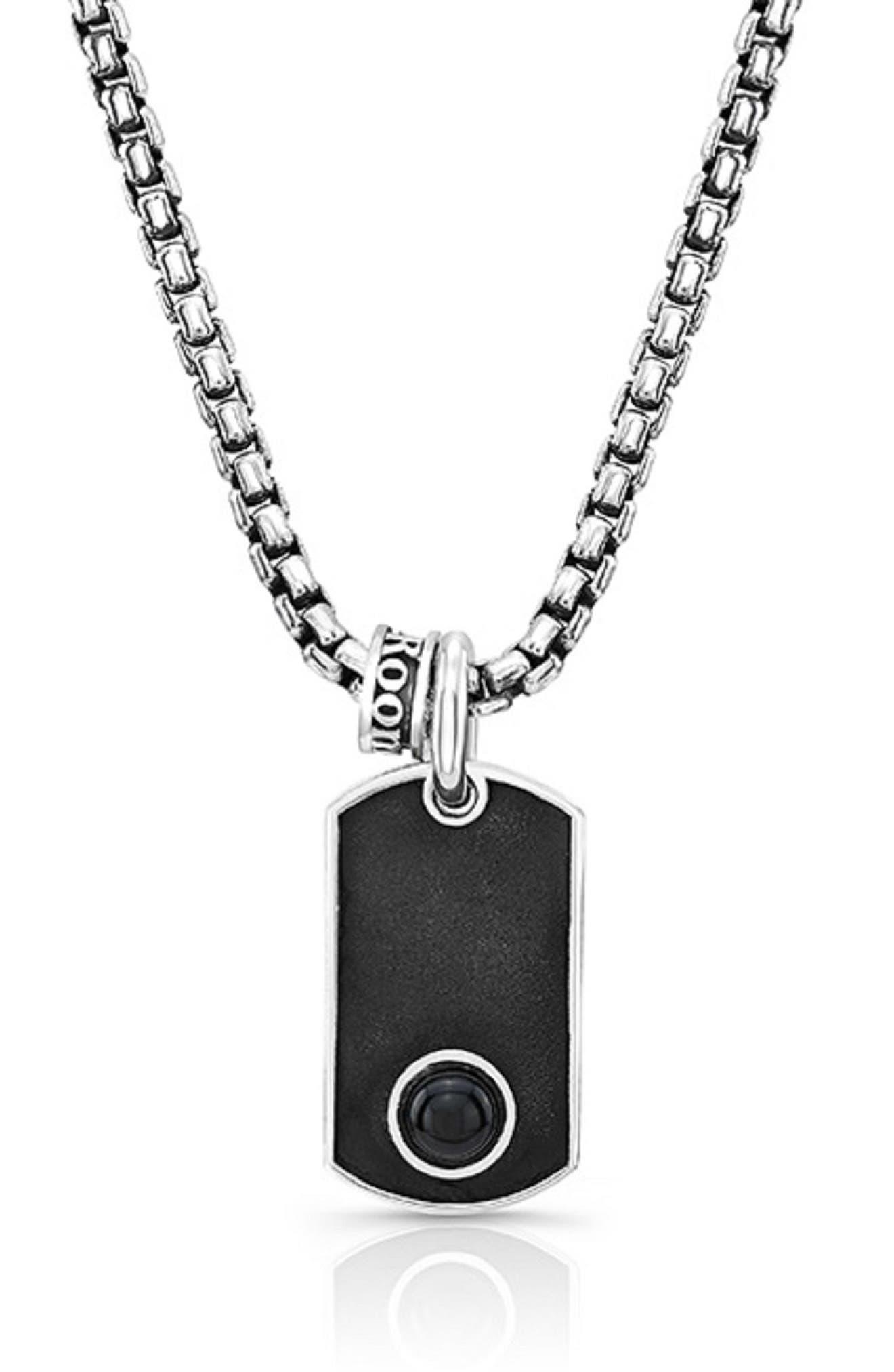 Accent Pendant Necklace,                         Main,                         color, Silver