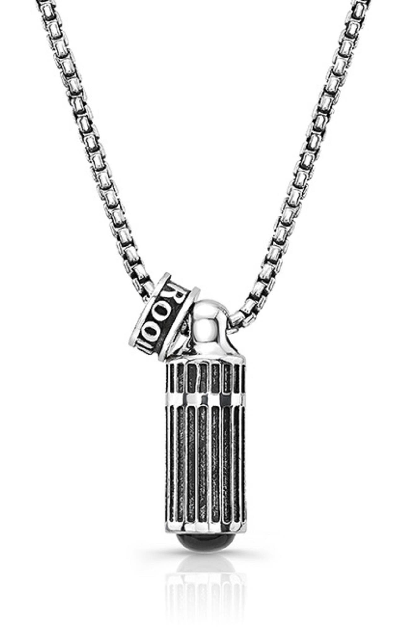 Tunnel Vision Pendant Necklace,                             Main thumbnail 1, color,                             Silver