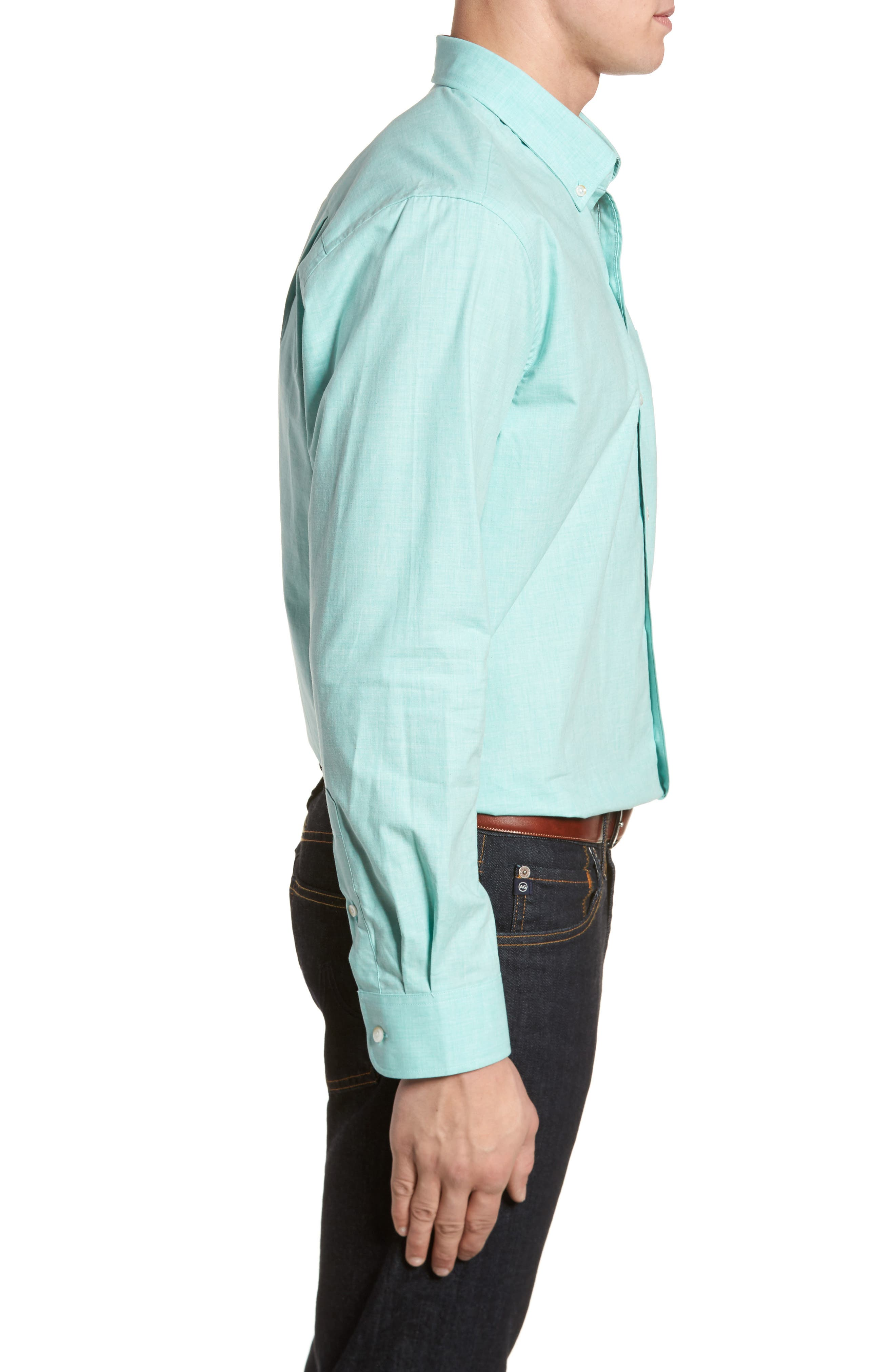 Alternate Image 3  - Cutter & Buck Heather Classic Fit No-Iron Sport Shirt