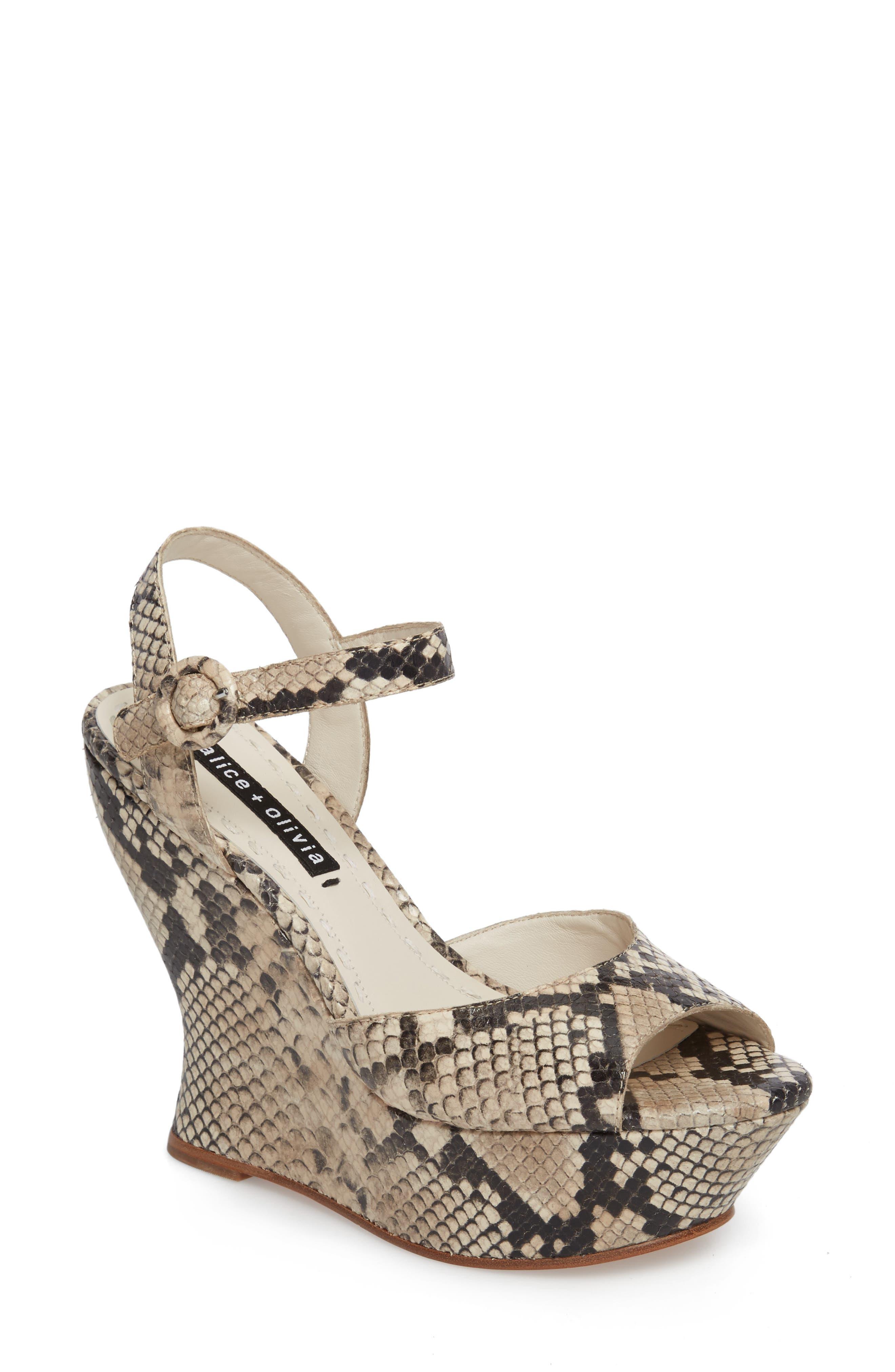 Alice + Olivia Jana Wedge Platform Sandal (Women)