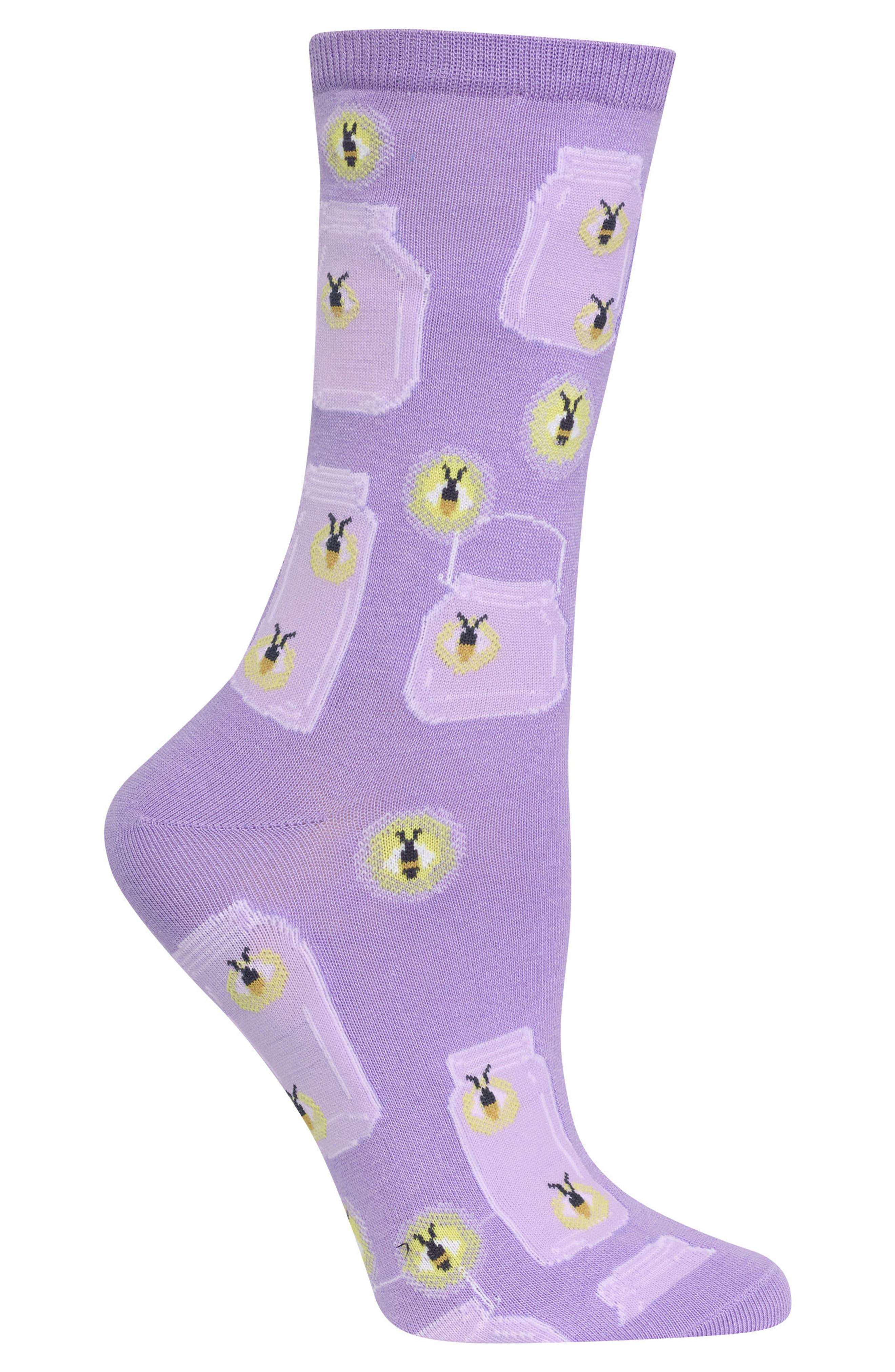 Fireflies Crew Socks,                             Alternate thumbnail 2, color,                             Lavender
