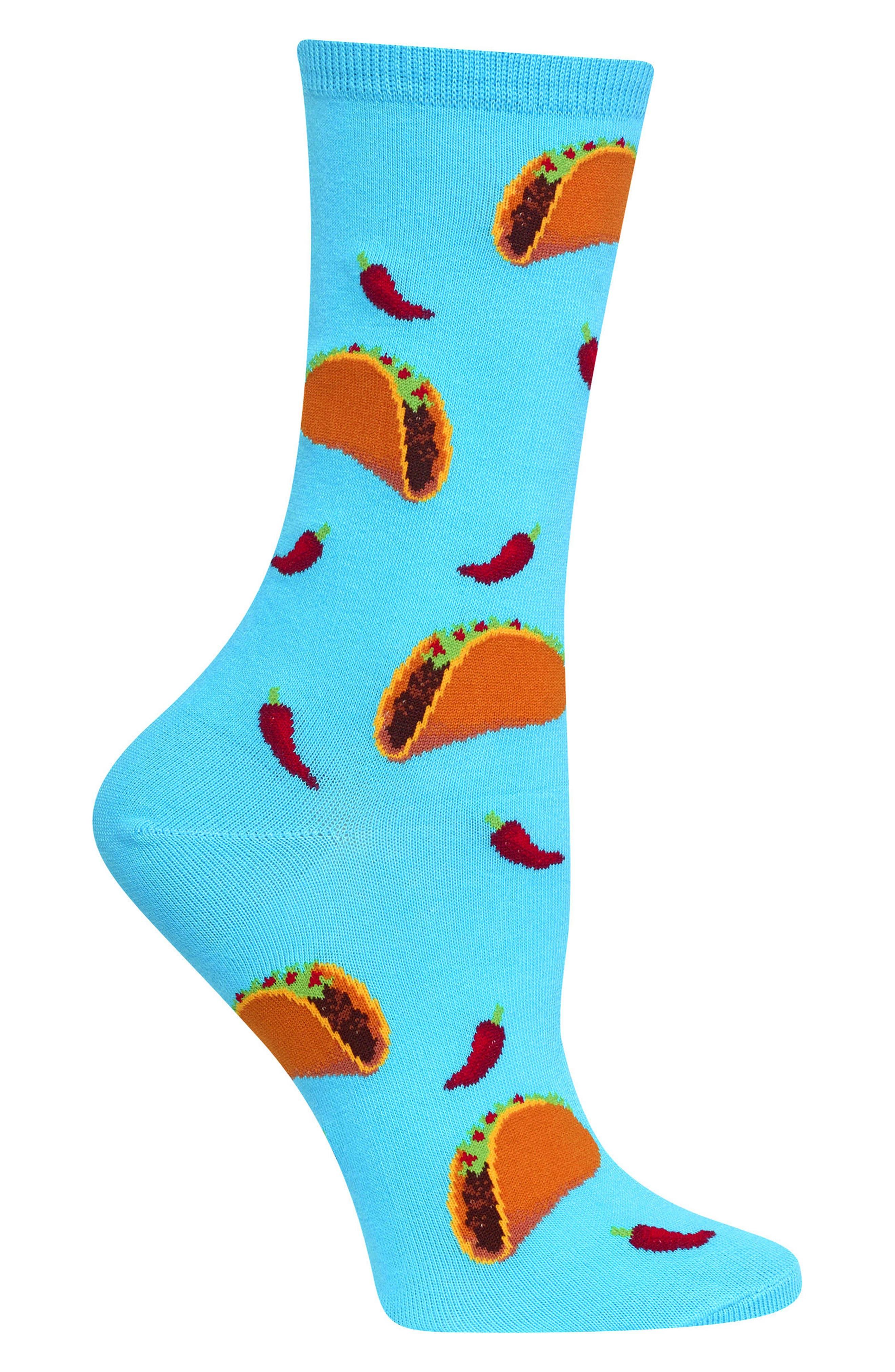Taco Crew Socks,                             Alternate thumbnail 3, color,                             Light Blue
