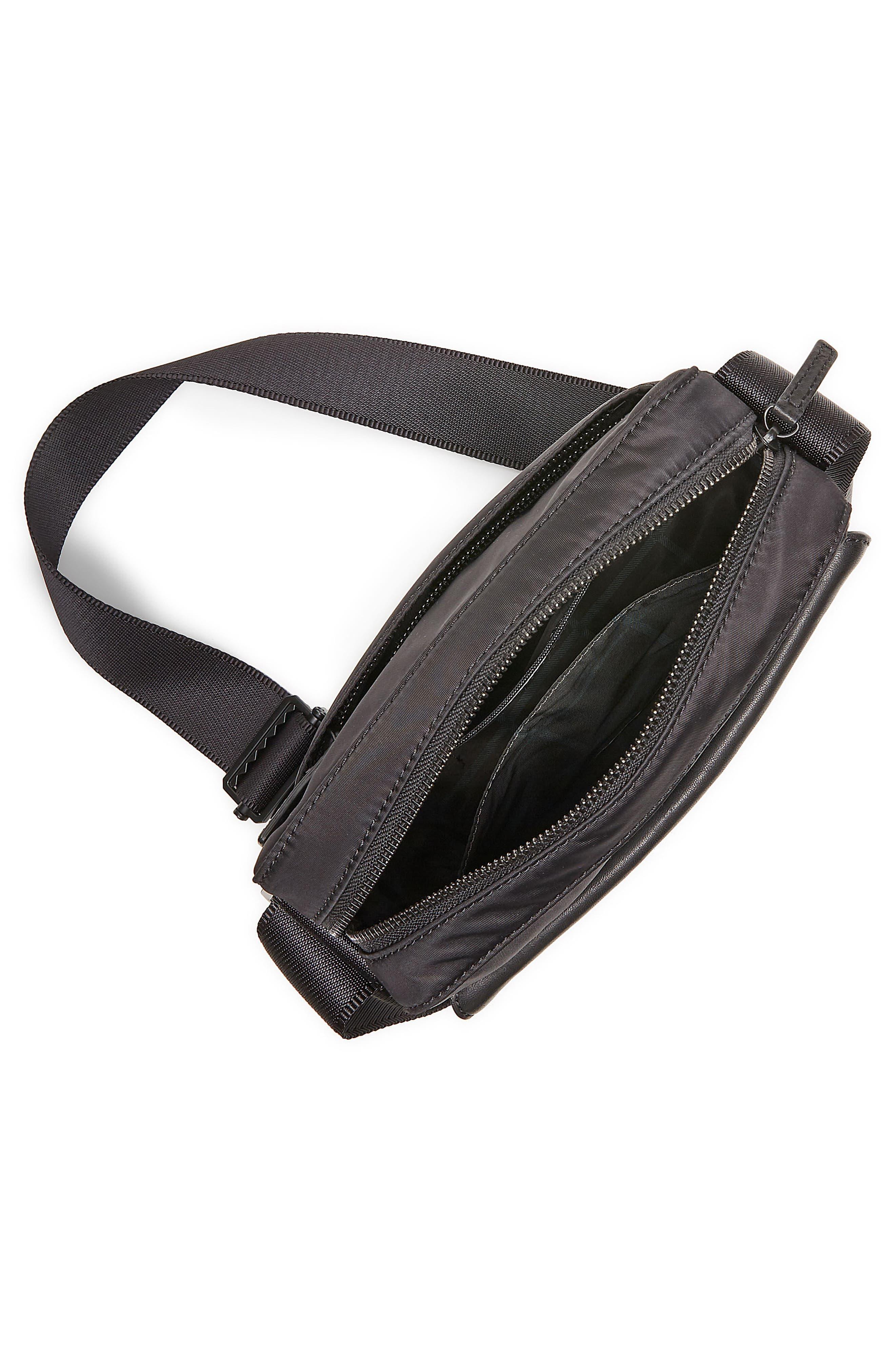 Basin Crossbody Bag,                             Alternate thumbnail 4, color,                             Black
