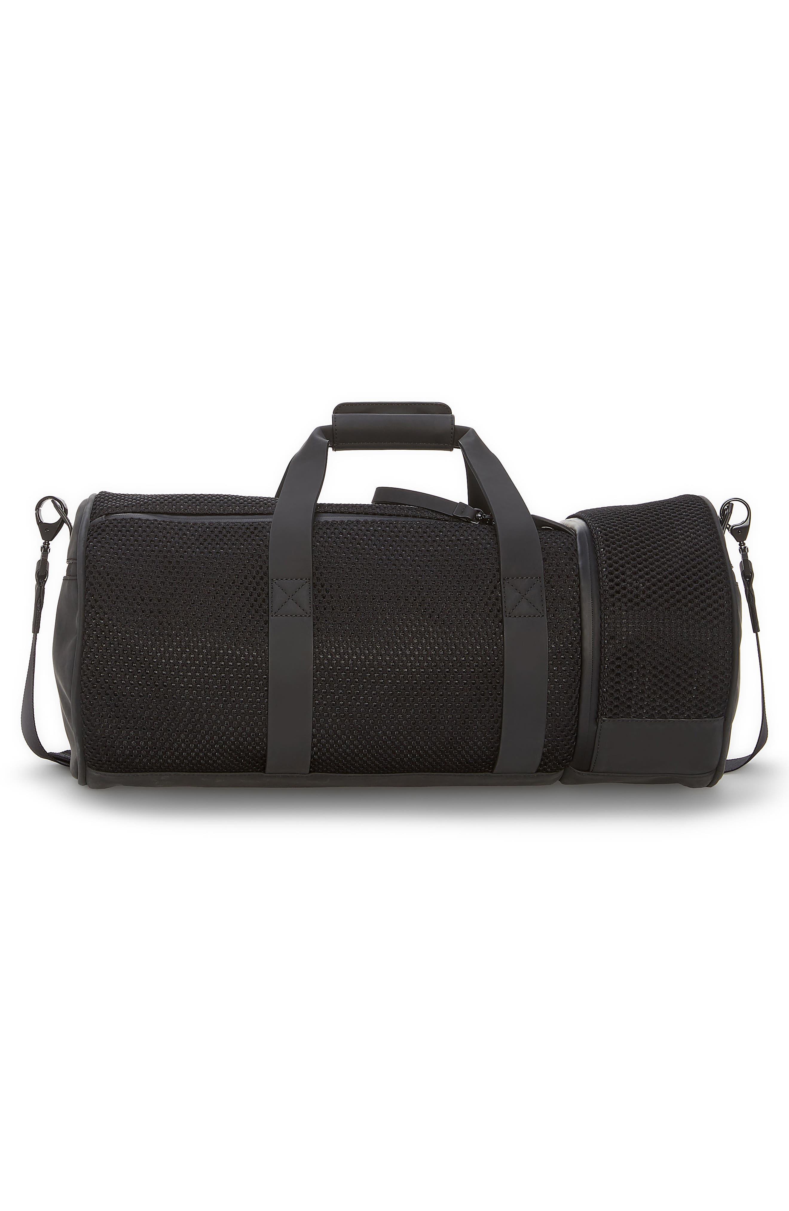 Urban Mesh Duffel Bag,                             Alternate thumbnail 2, color,                             Black