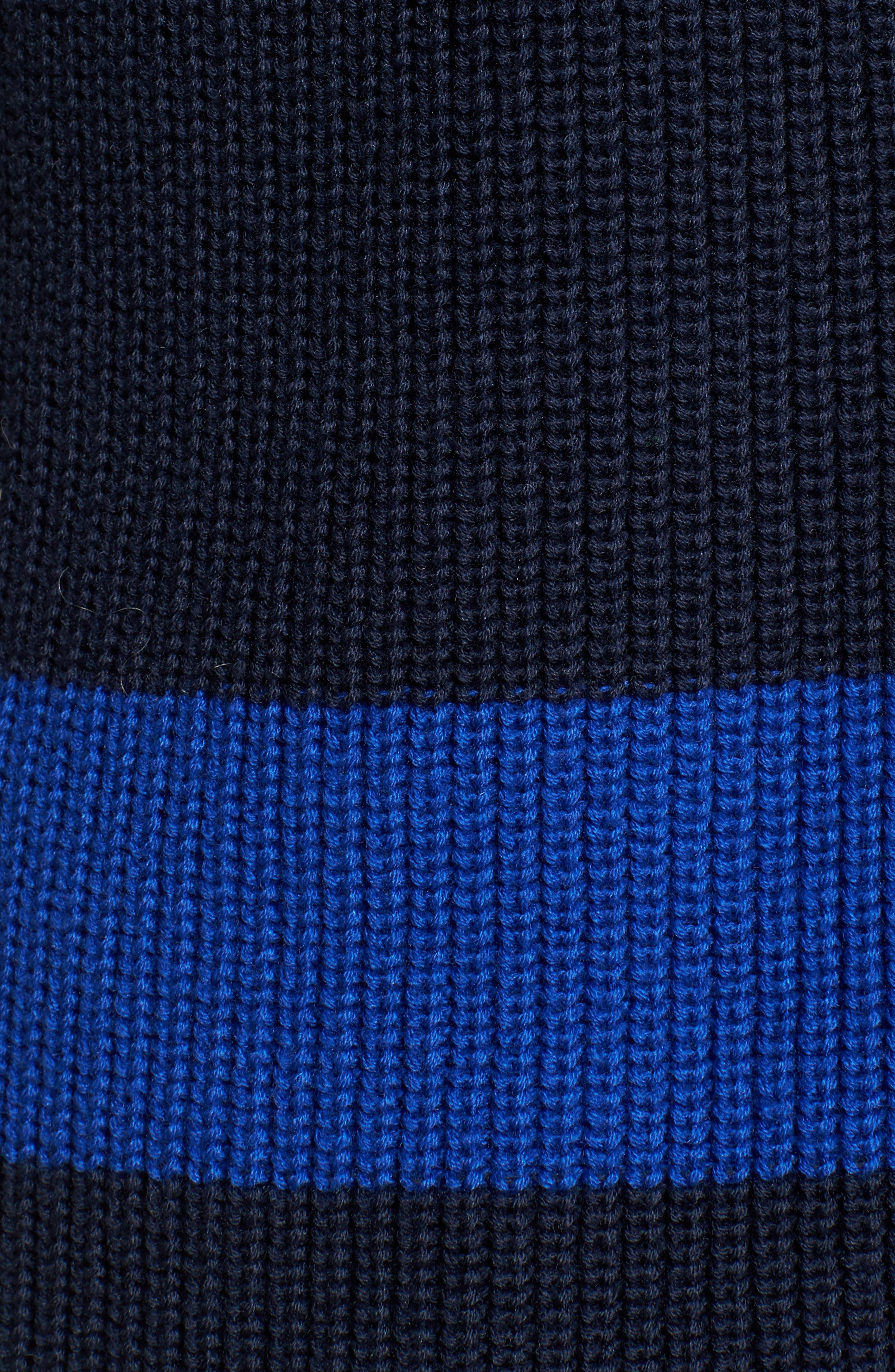 Shaker Knit Cardigan,                             Alternate thumbnail 6, color,                             Navy- Blue Colorblock