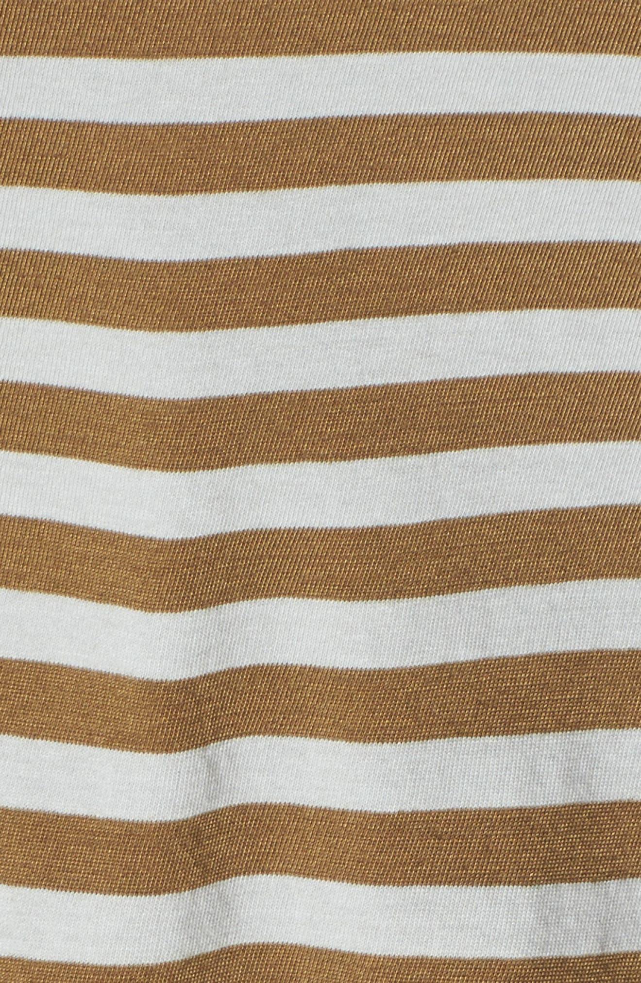 Fern Stripe Twist Front Tee,                             Alternate thumbnail 5, color,                             Silver