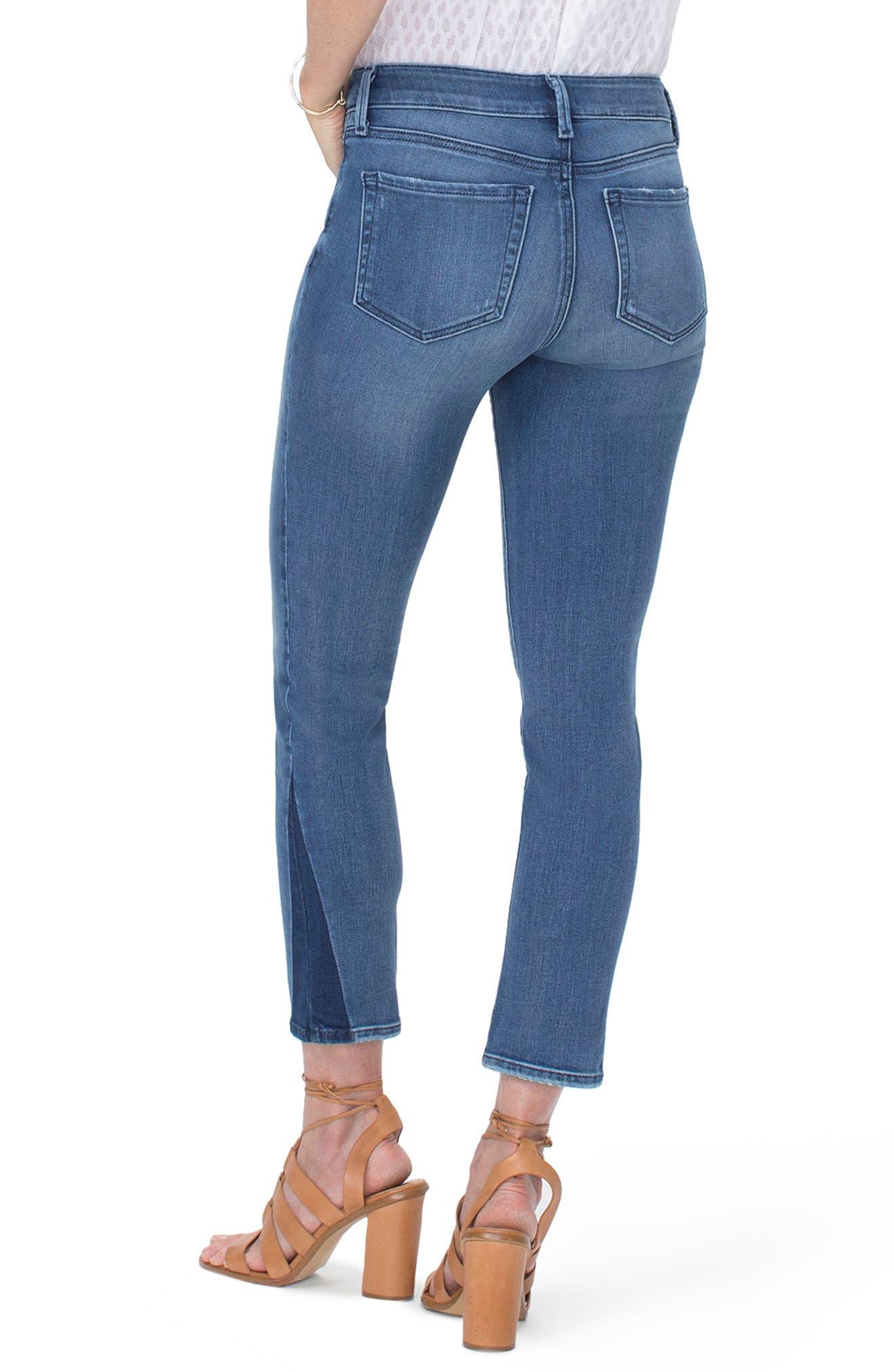 Sheri Slim Shadow Ankle Jeans,                             Alternate thumbnail 2, color,                             Wishful