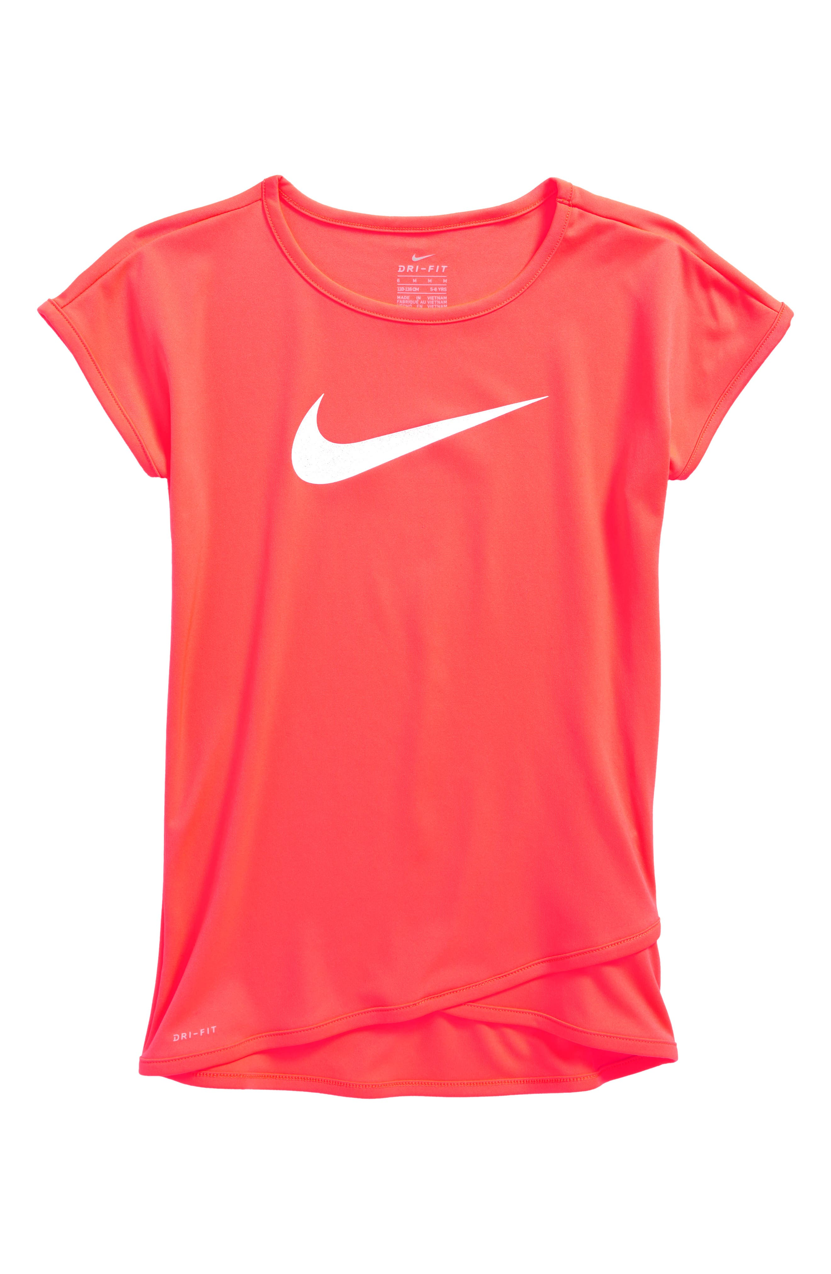 Dry Swoosh Graphic Tunic,                         Main,                         color, Hot Punch