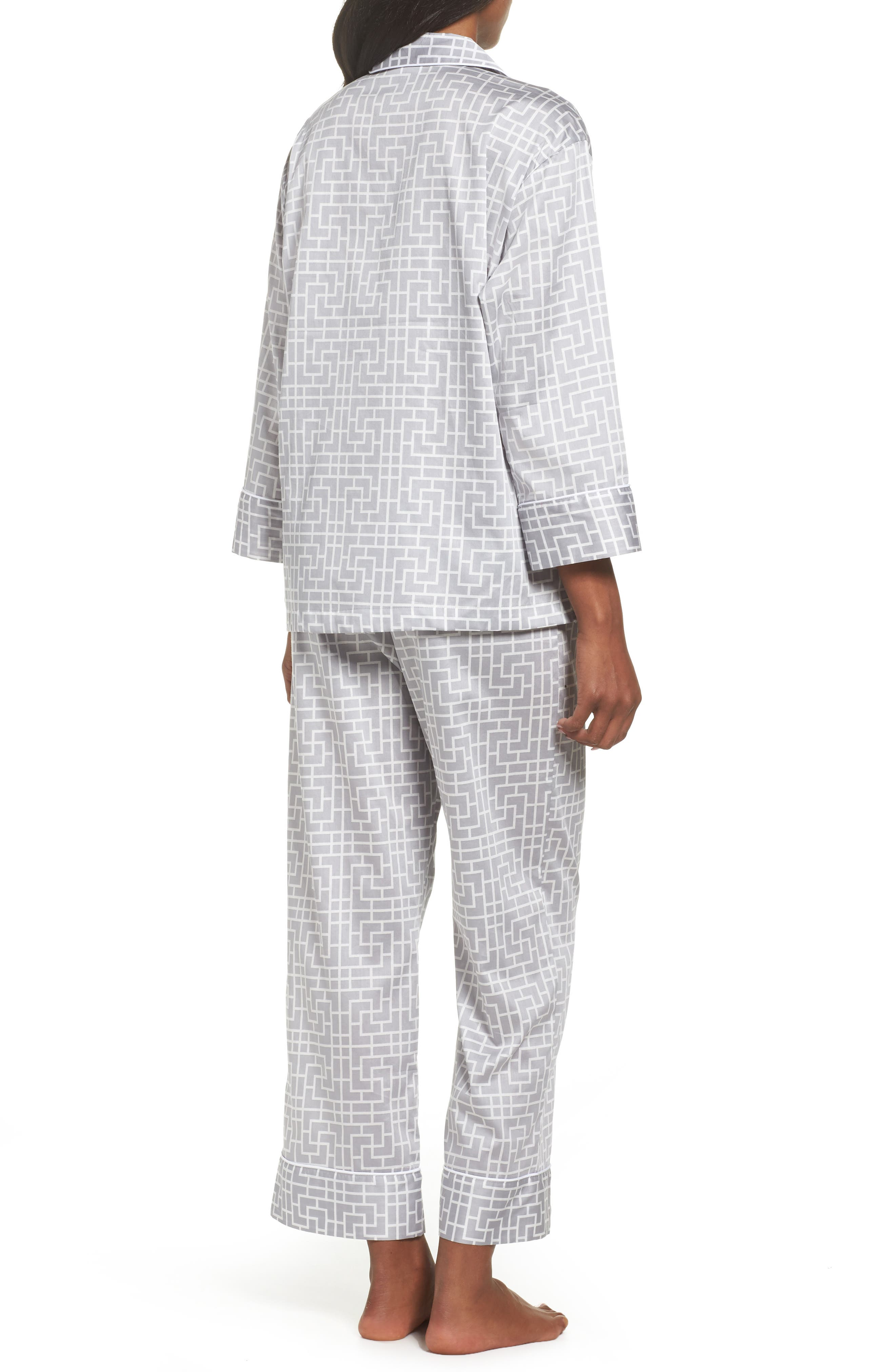 Abstract Maze Sateen Pajamas,                             Alternate thumbnail 2, color,                             Lead