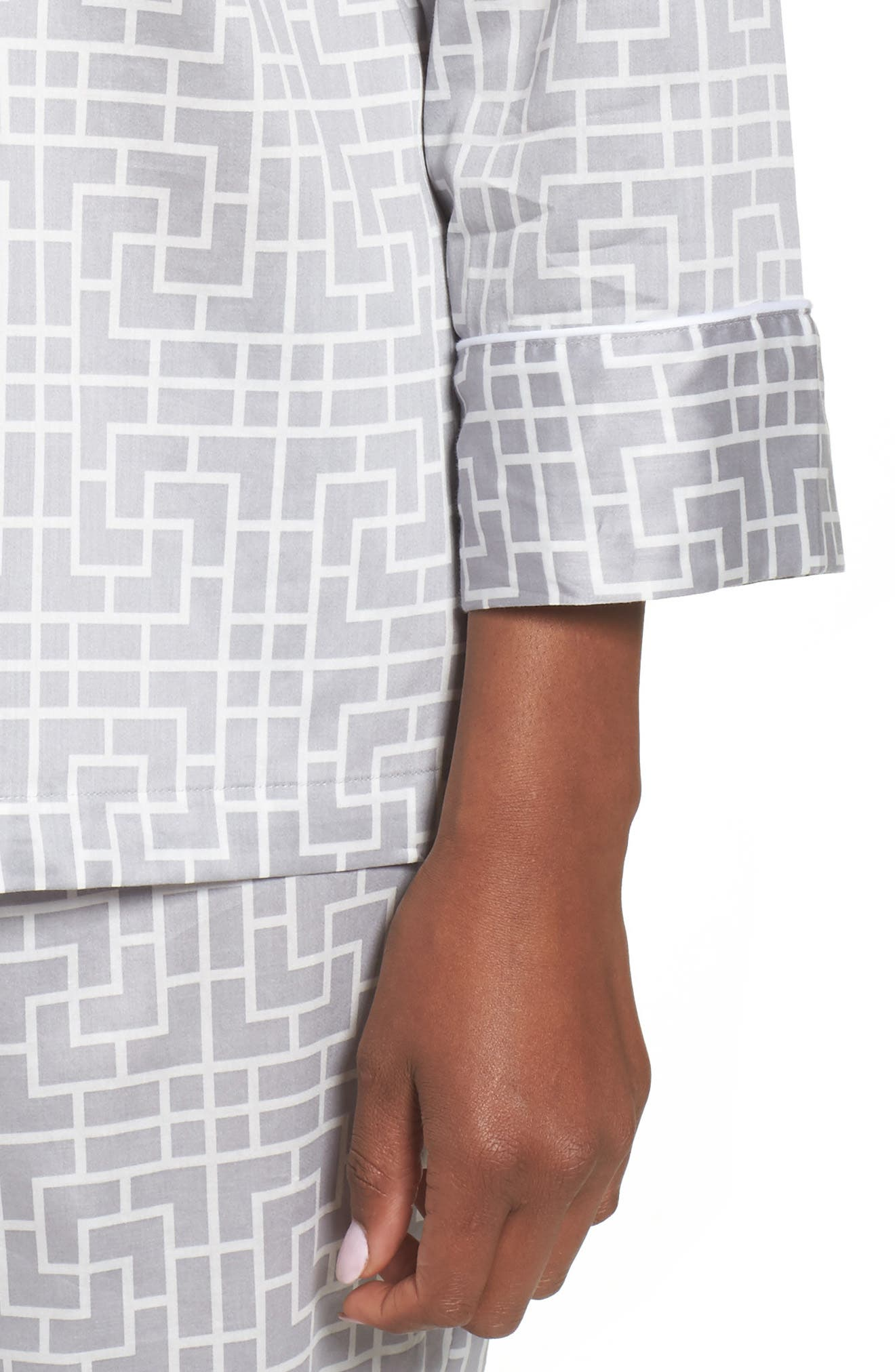 Abstract Maze Sateen Pajamas,                             Alternate thumbnail 5, color,                             Lead