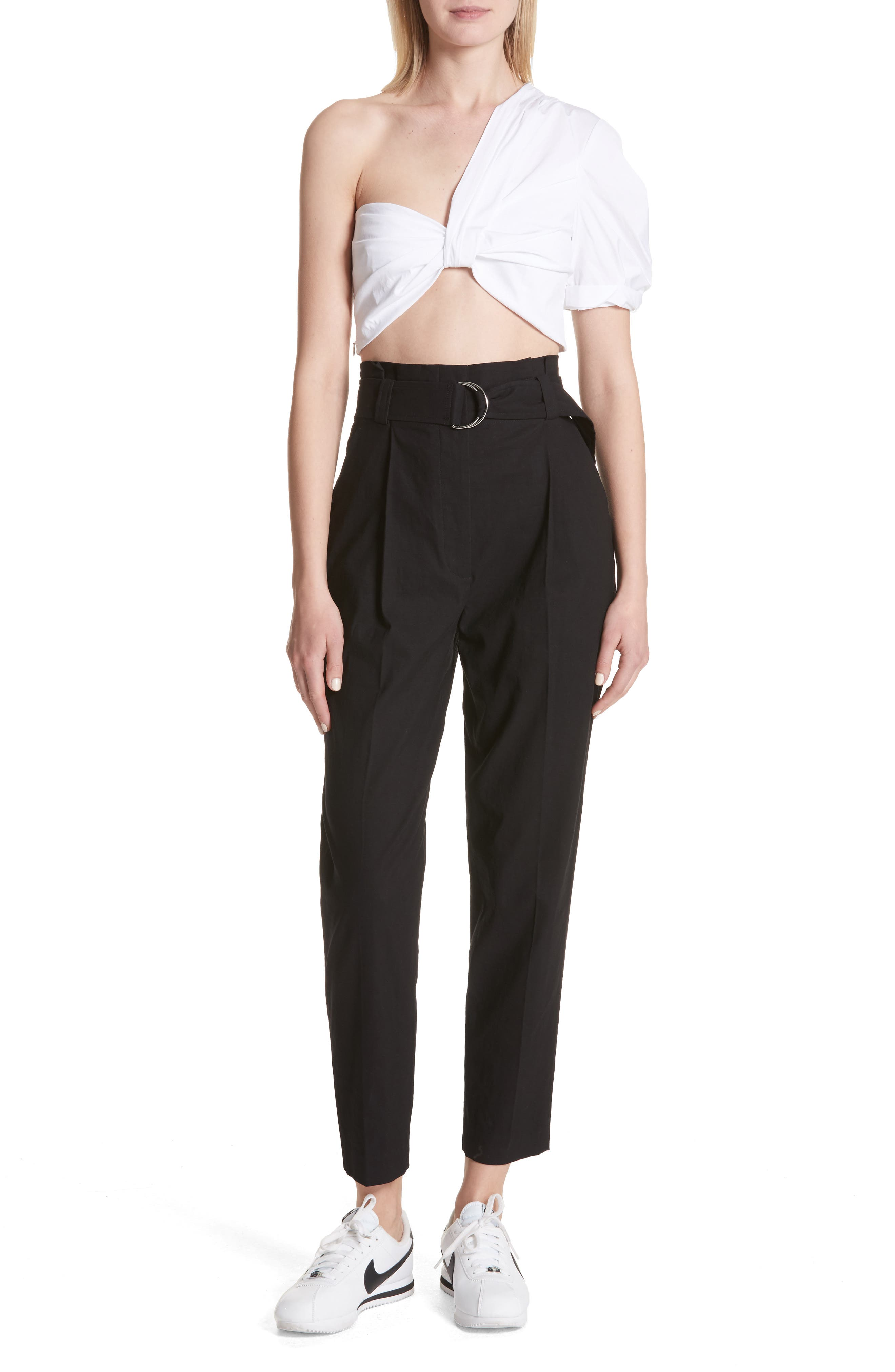 Diego High Waist Pants,                             Alternate thumbnail 7, color,                             Black