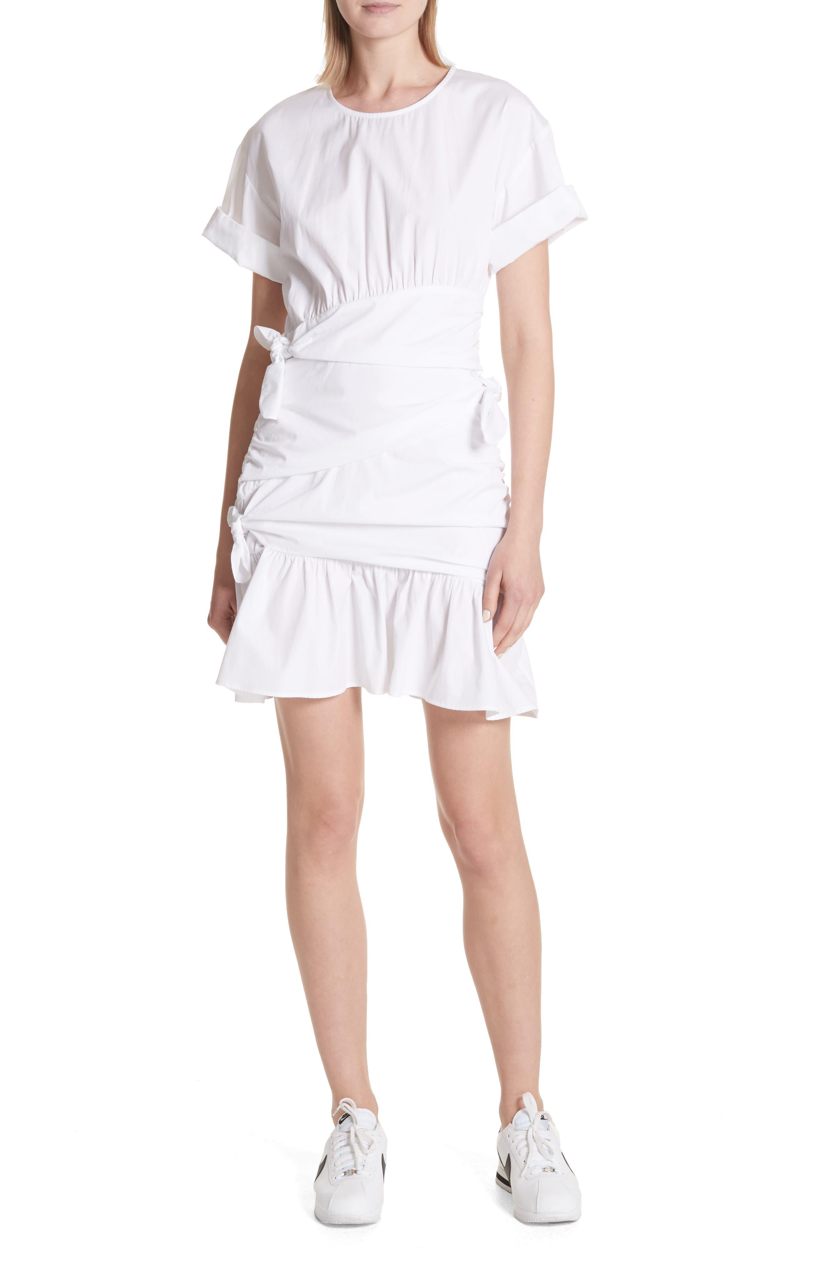 Cassian Cotton Dress,                         Main,                         color, White