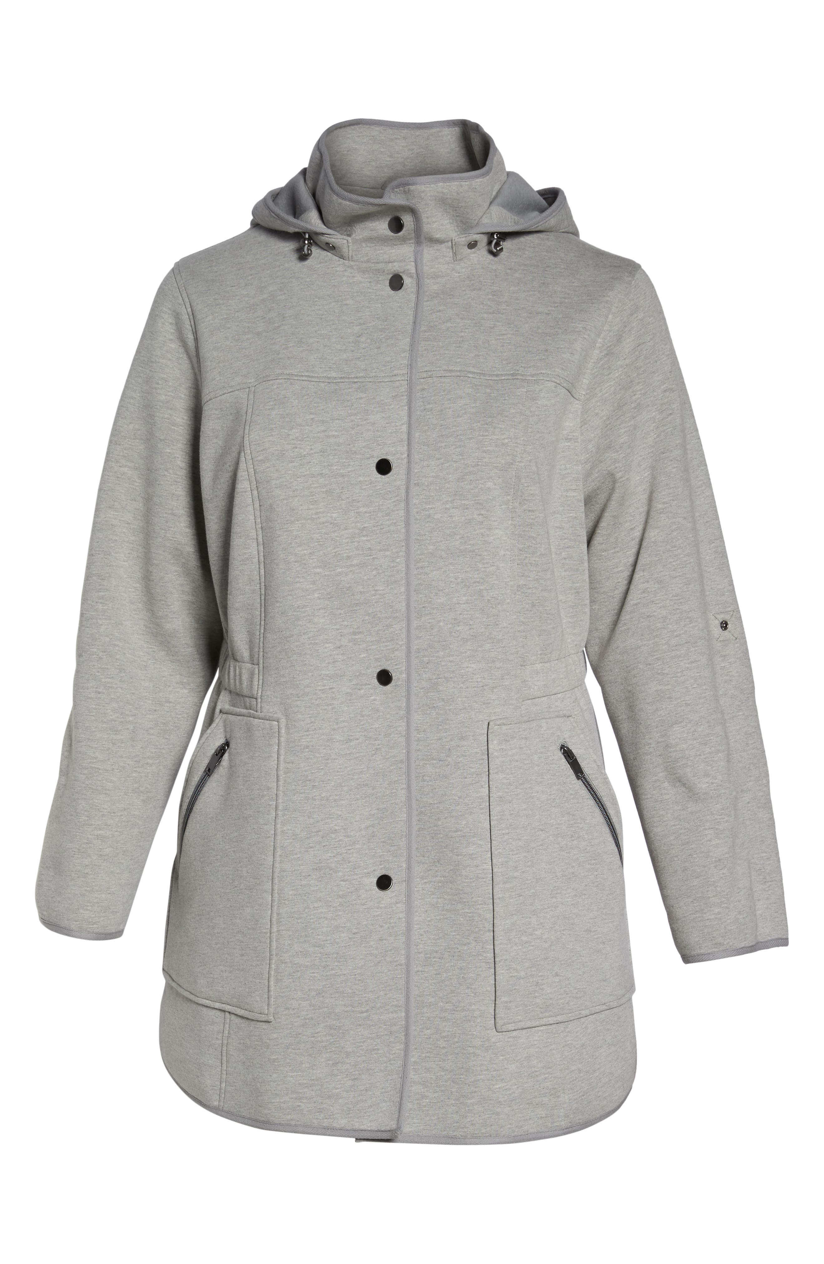 Alternate Image 6  - Gallery Hooded Knit Anorak (Plus Size)