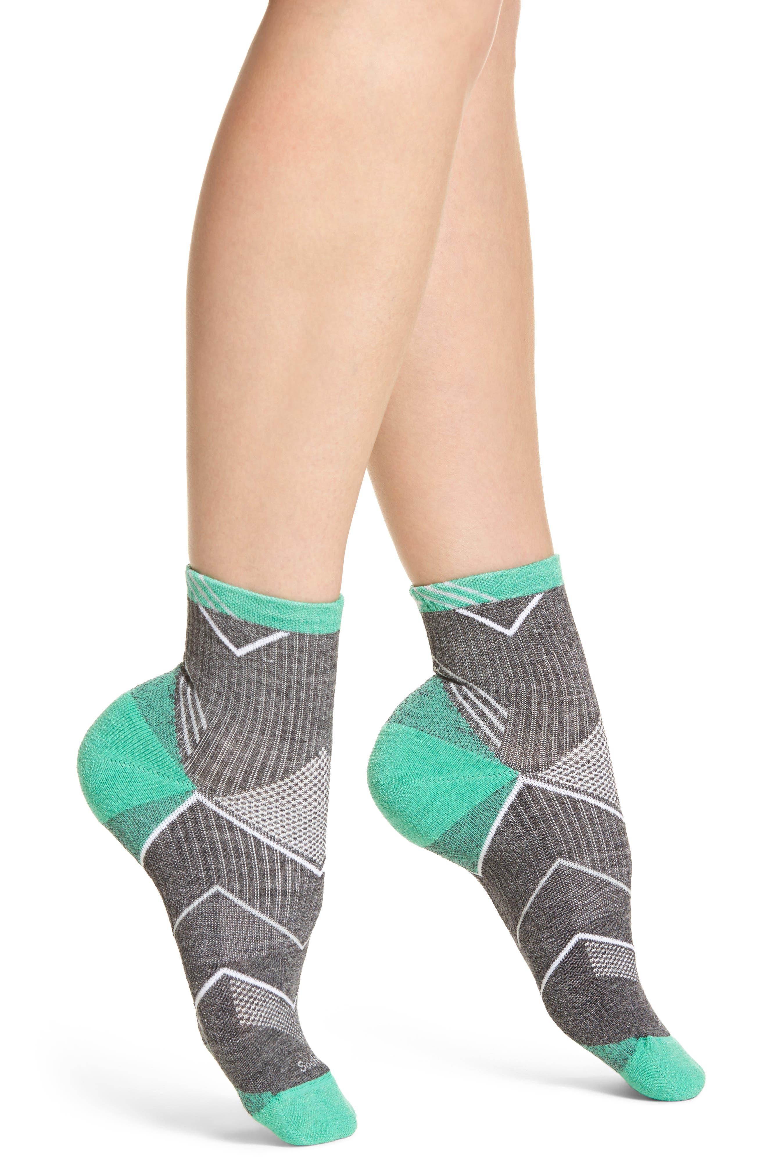 Quarter Socks,                         Main,                         color, Charcoal