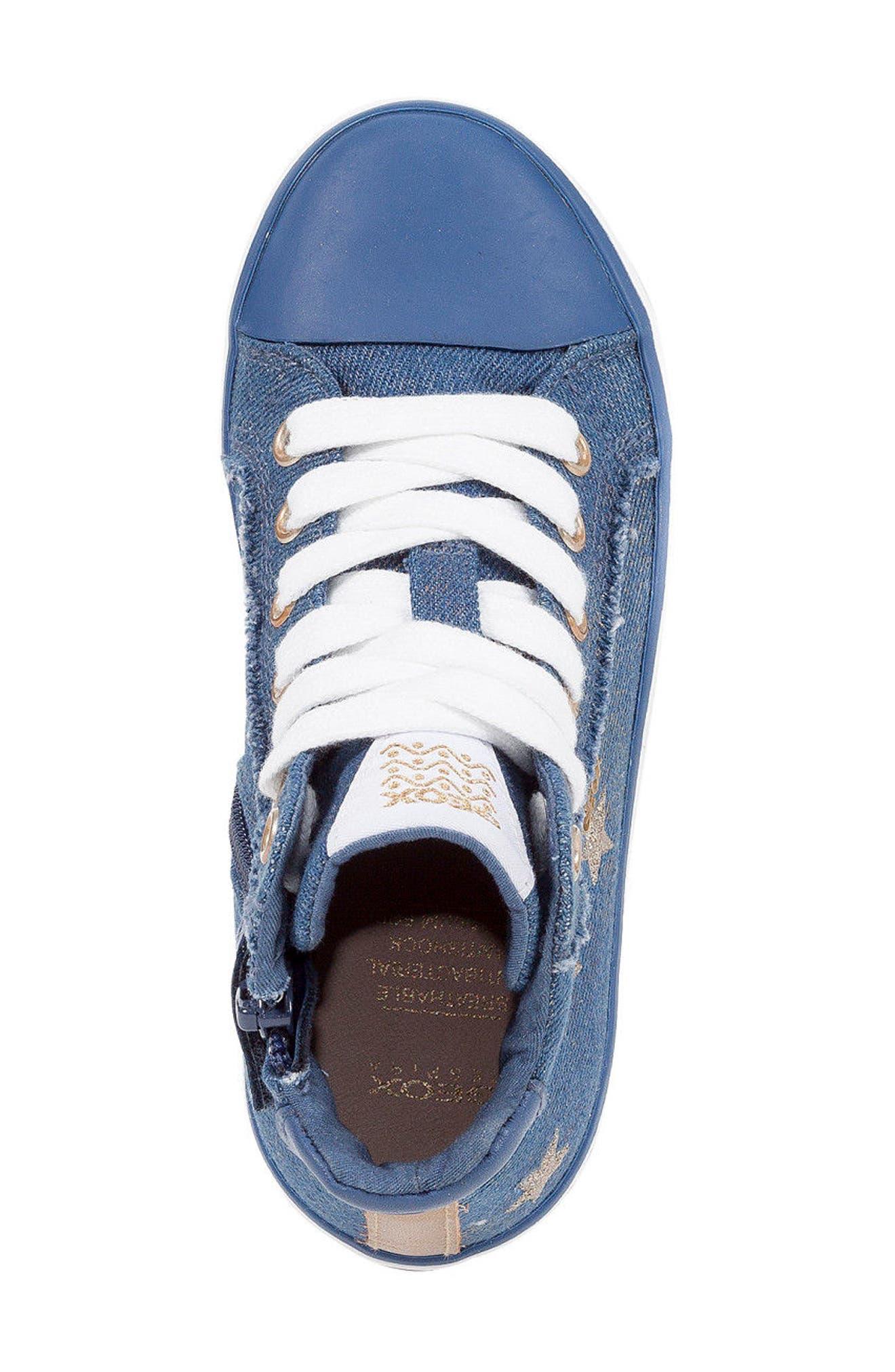 Kilwi High Top Zip Sneaker,                             Alternate thumbnail 4, color,                             Avio