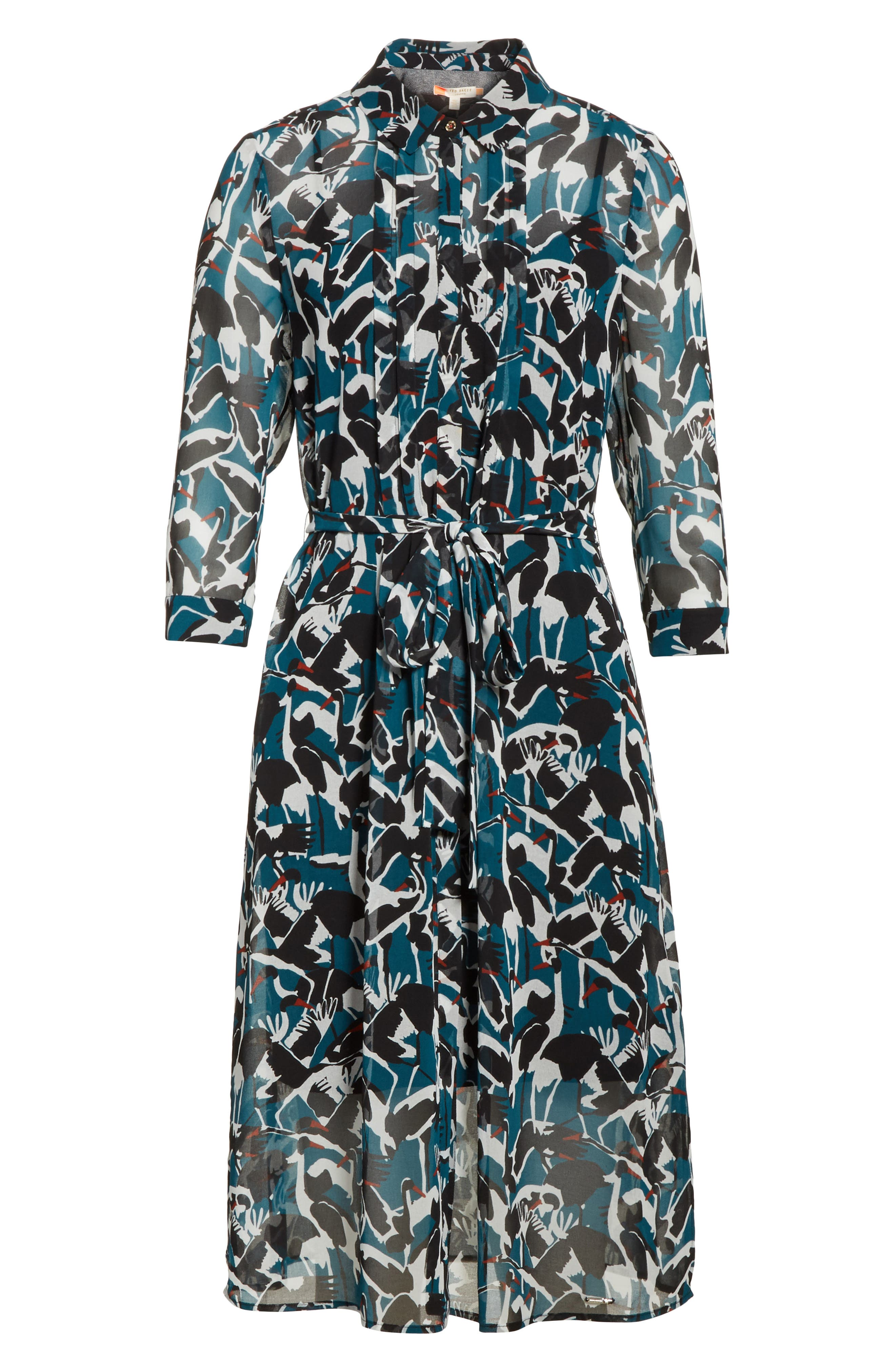 Alternate Image 6  - Ted Baker London Colour by Numbers Crane Shirtdress
