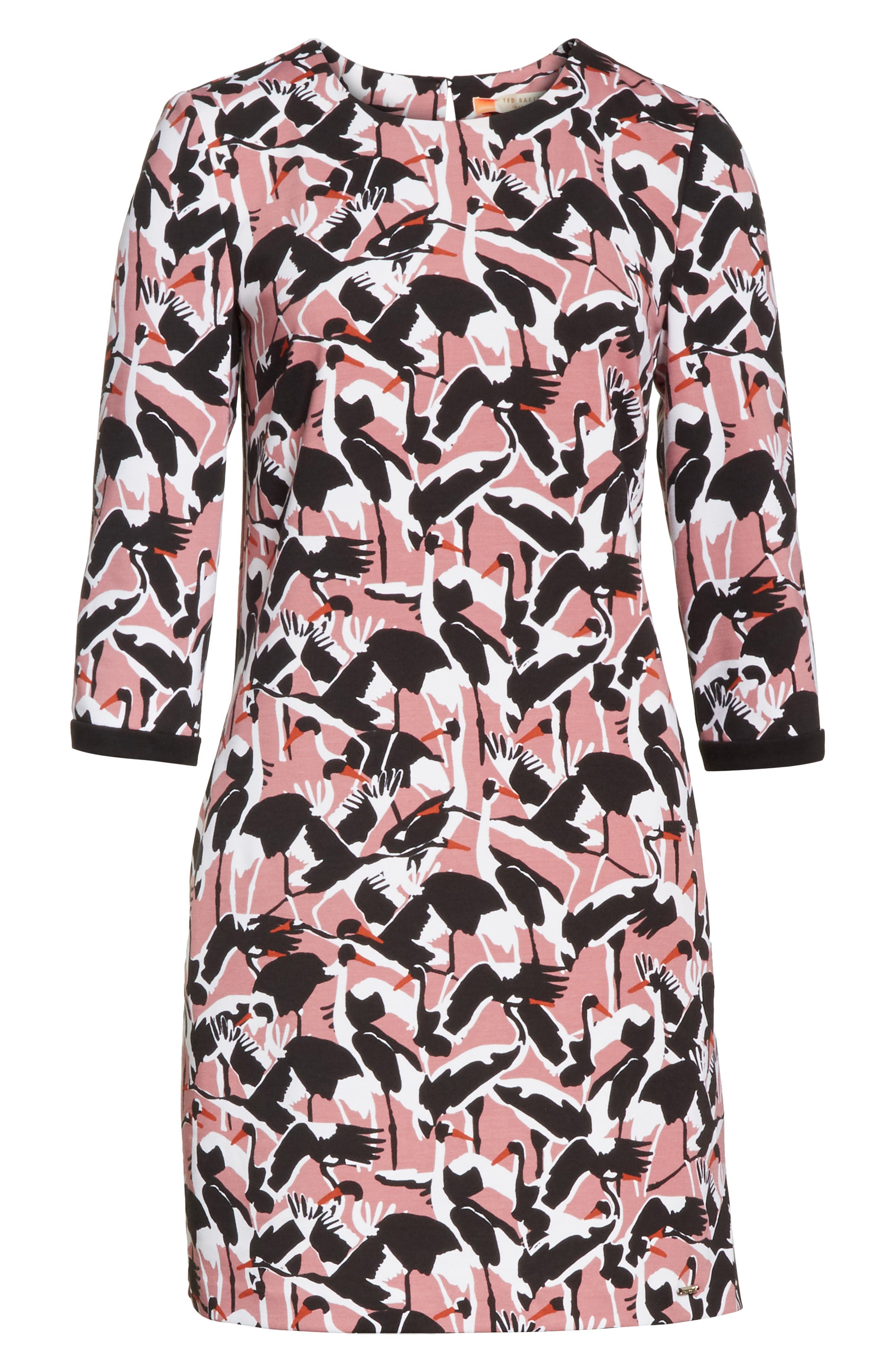 Colour by Numbers Crane Shift Dress,                             Alternate thumbnail 6, color,                             Dusky Pink