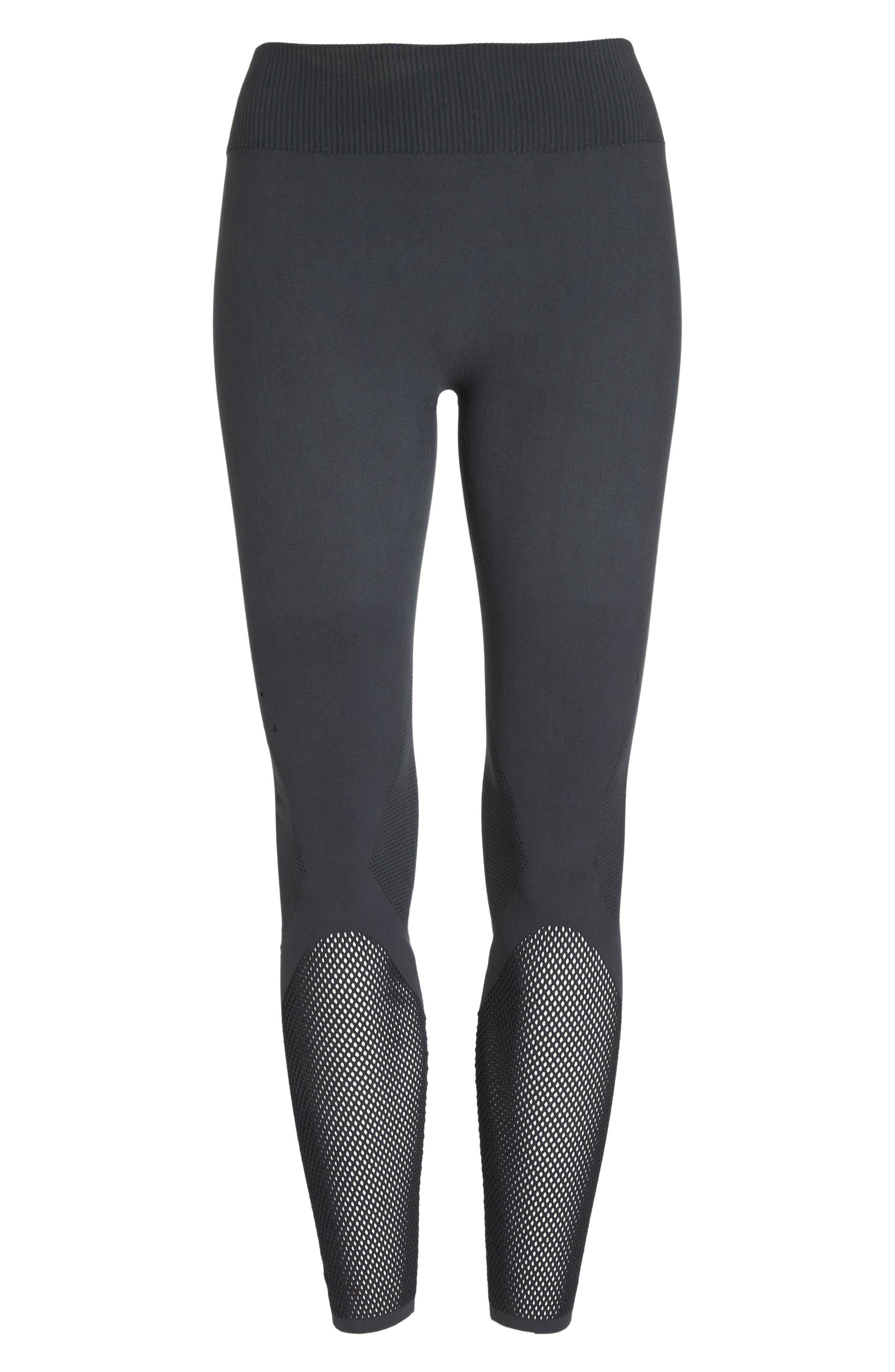 Warp Climacool<sup>®</sup> Knit Tights,                             Alternate thumbnail 6, color,                             Carbon/ Black