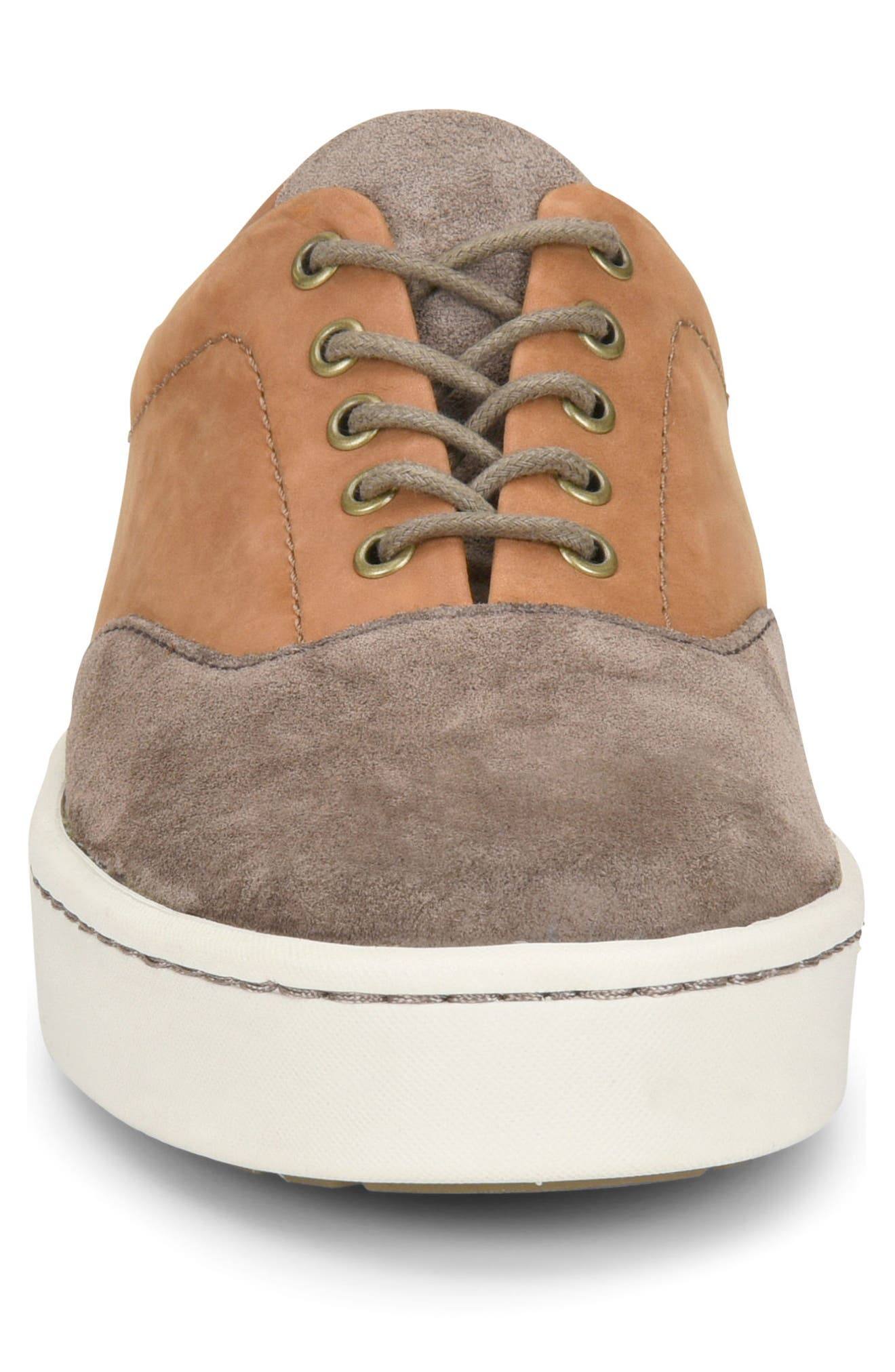 Keystone Low Top Sneaker,                             Alternate thumbnail 4, color,                             Taupe Leather