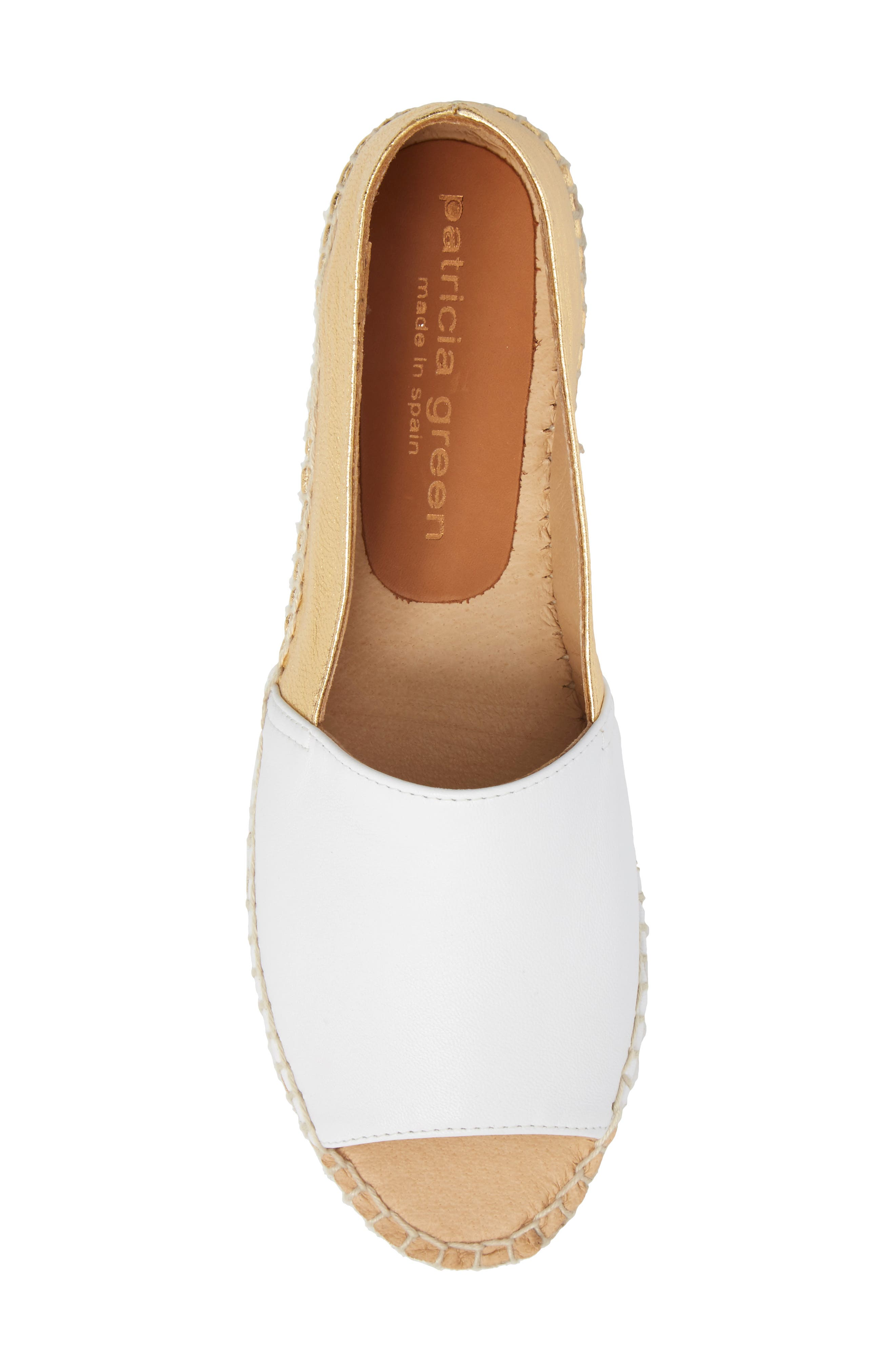 Milly Espadrille,                             Alternate thumbnail 5, color,                             Gold Leather