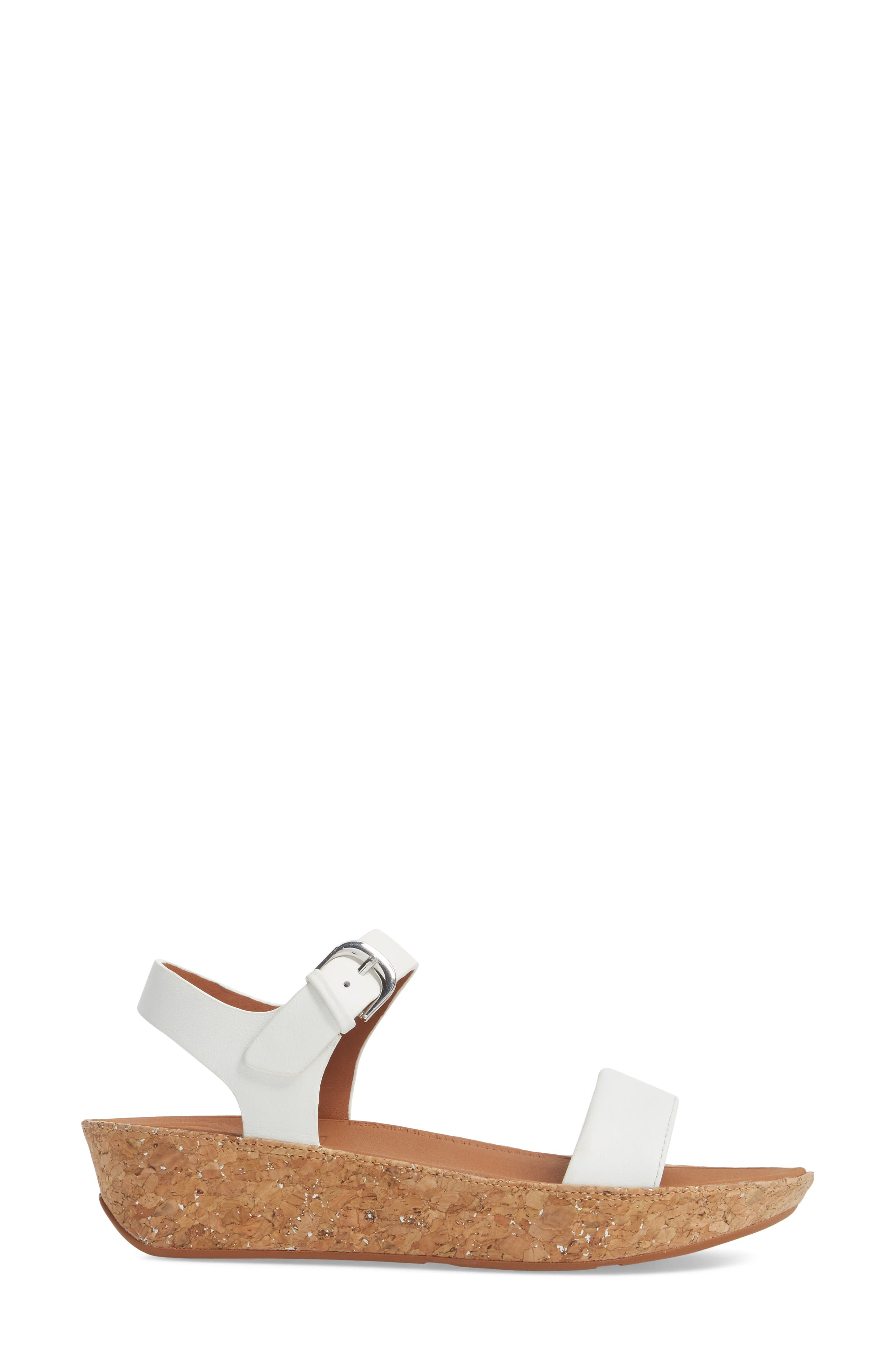 Bon II Platform Sandal,                             Alternate thumbnail 3, color,                             Urban White Leather