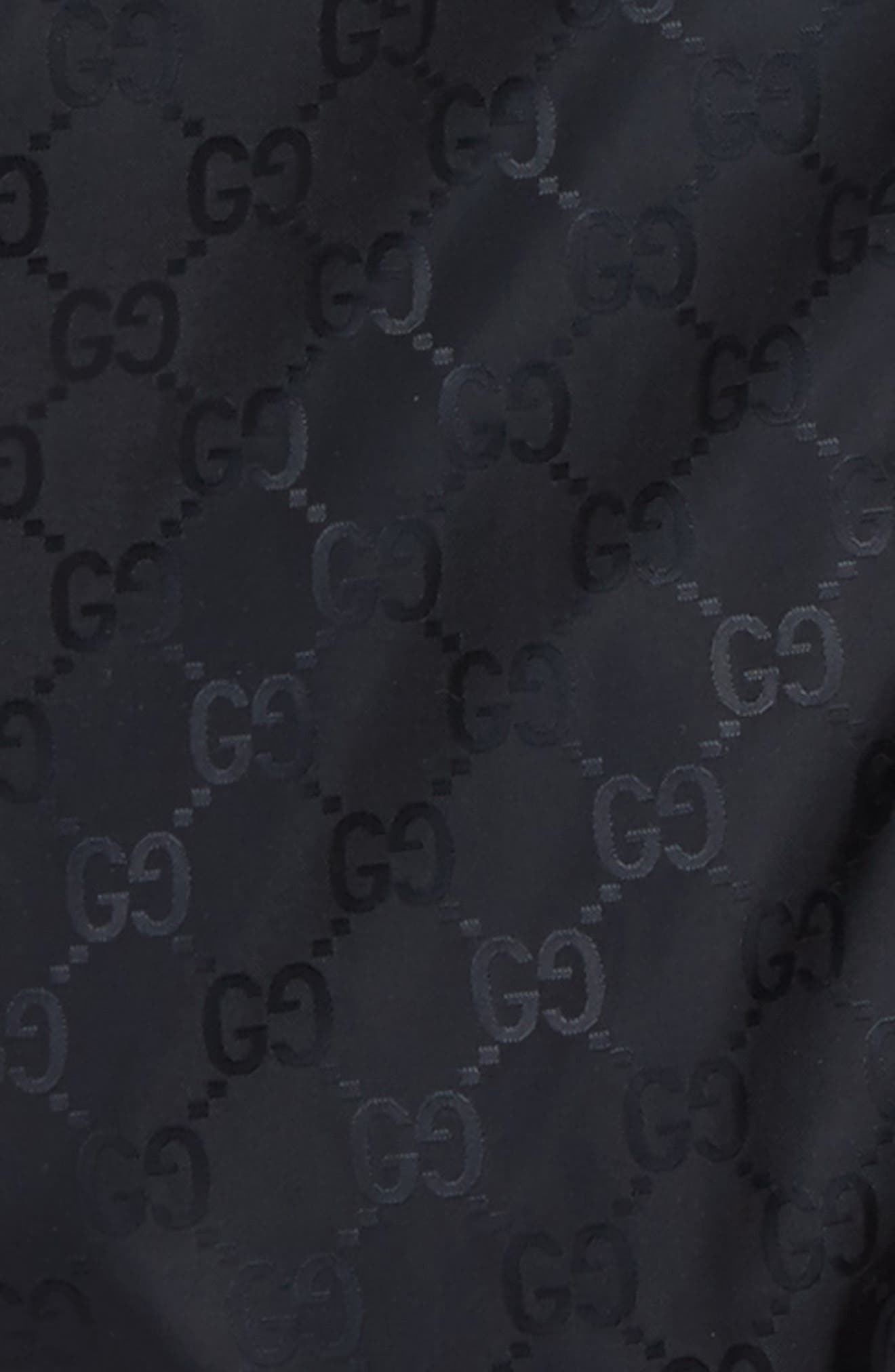Alternate Image 2  - Gucci GG Logo Jacquard Hooded Rain Jacket (Baby)