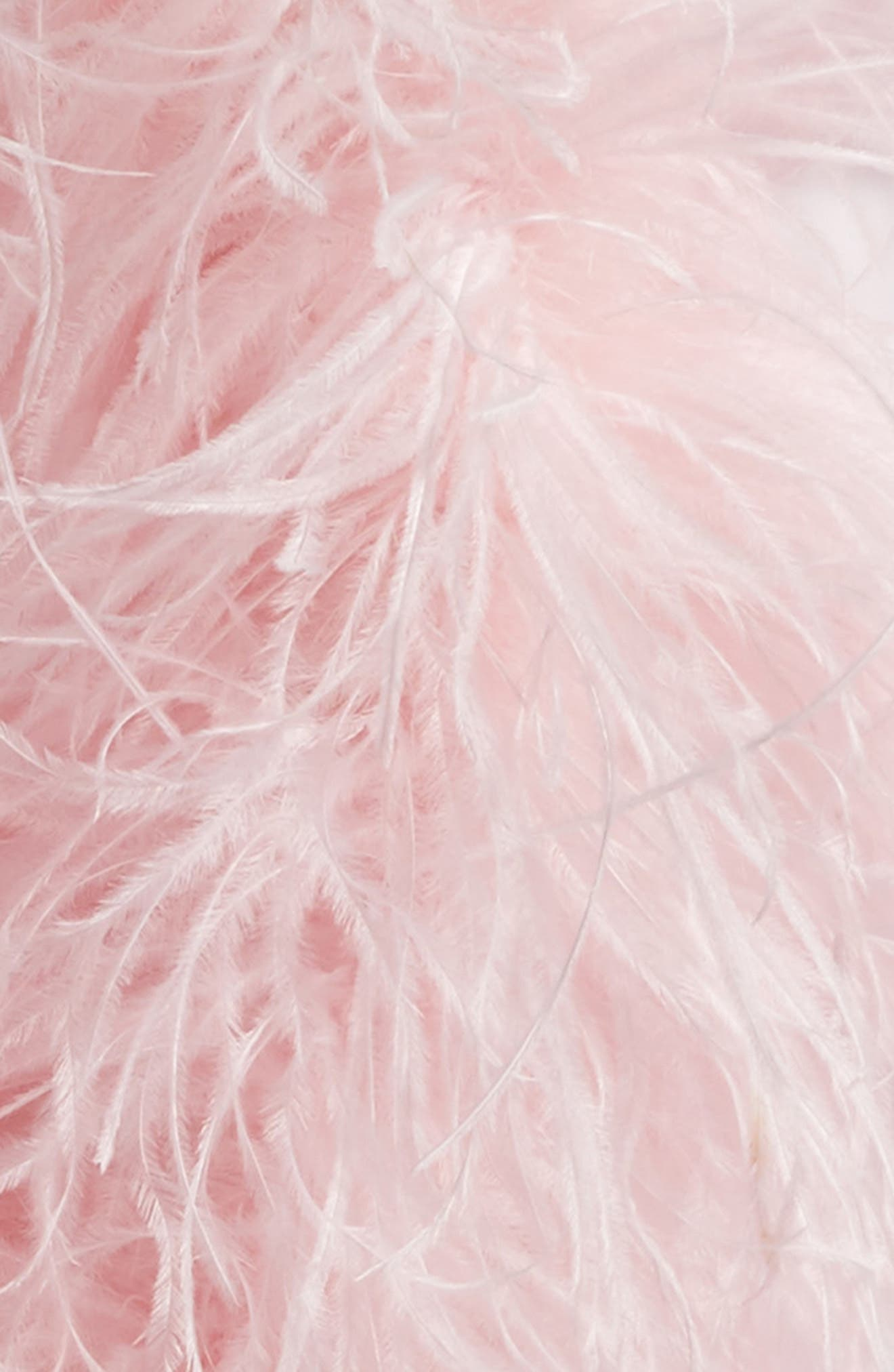 Ostrich Feather Scarf,                             Alternate thumbnail 4, color,                             Pink
