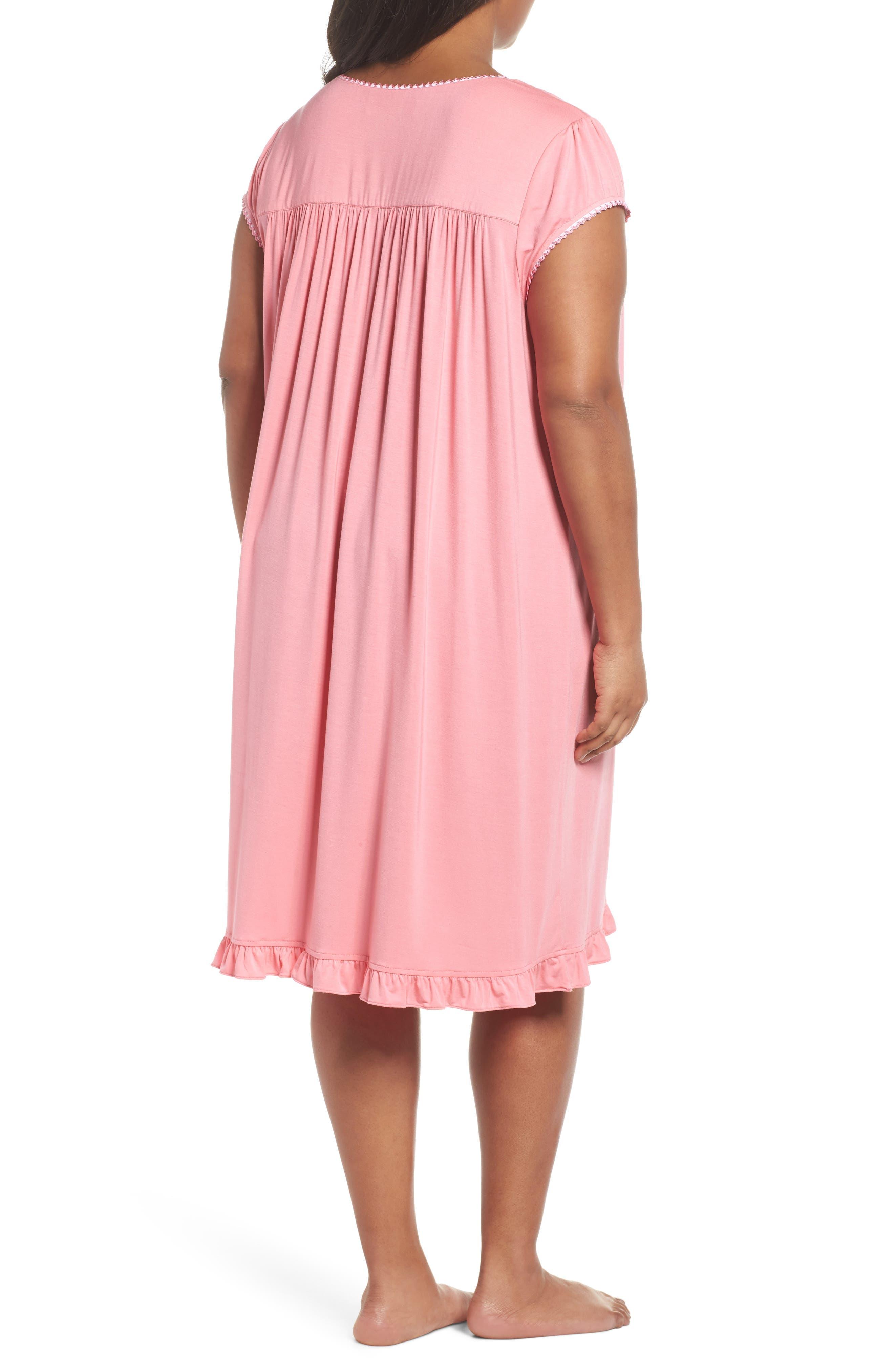 Alternate Image 2  - Eileen West Jersey Waltz Nightgown (Plus Size)