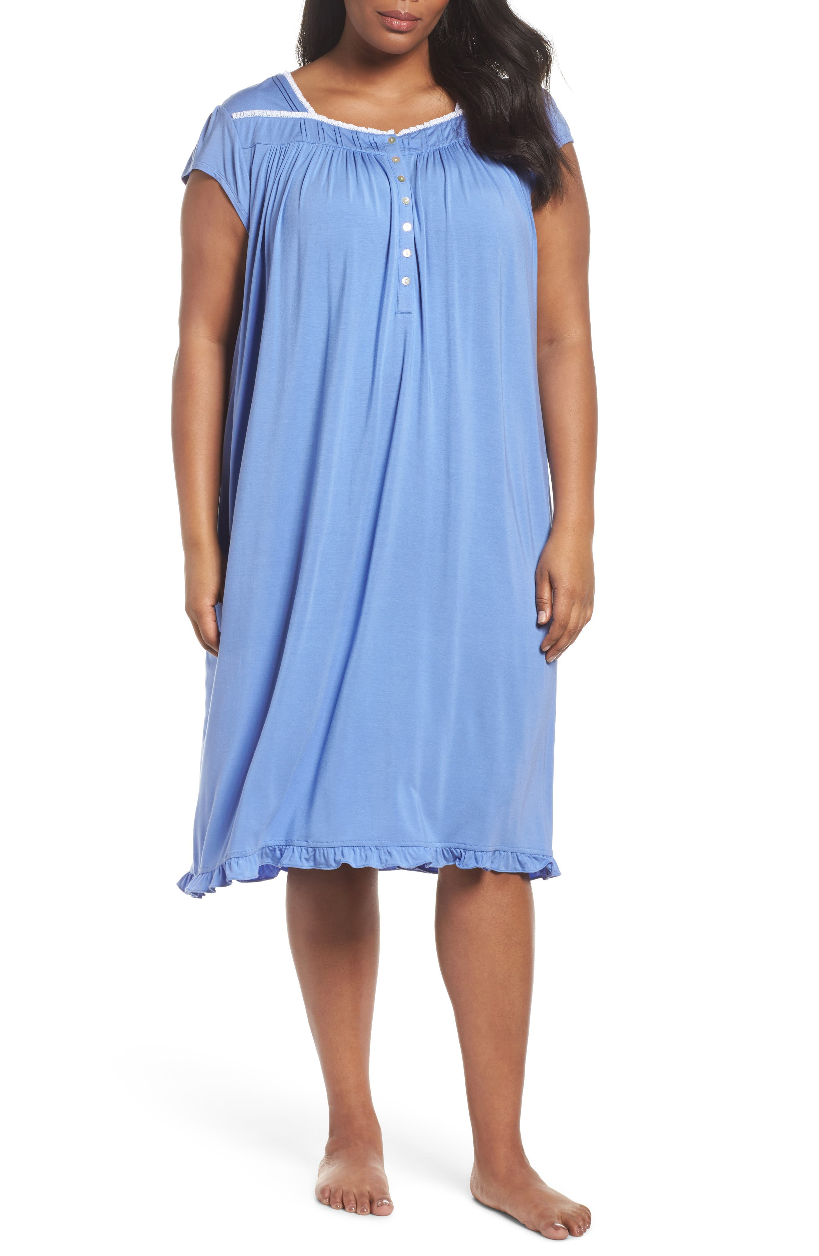 Eileen West Modal Jersey Waltz Nightgown (Plus Size)