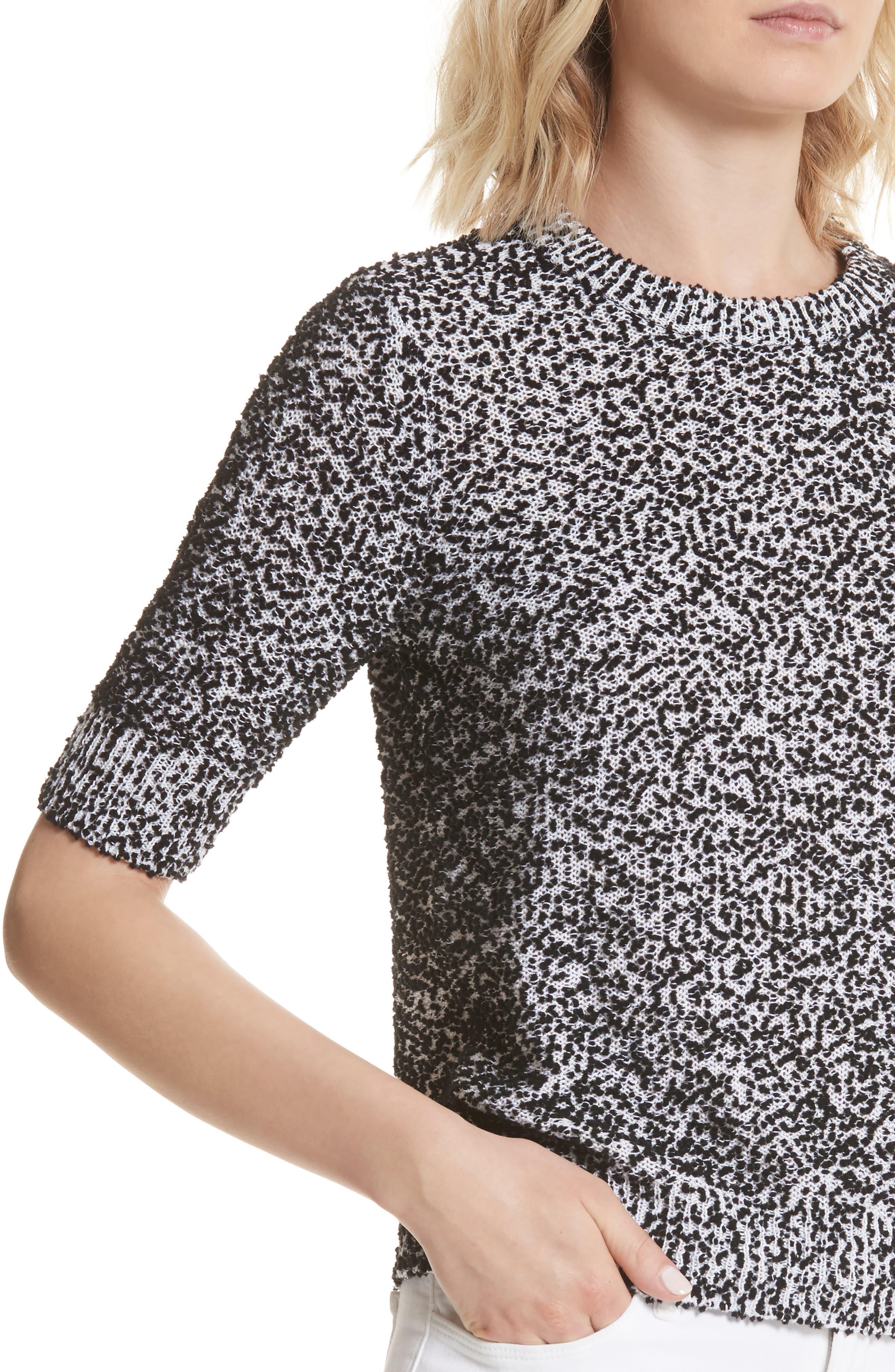 pom sweater,                             Alternate thumbnail 4, color,                             Black