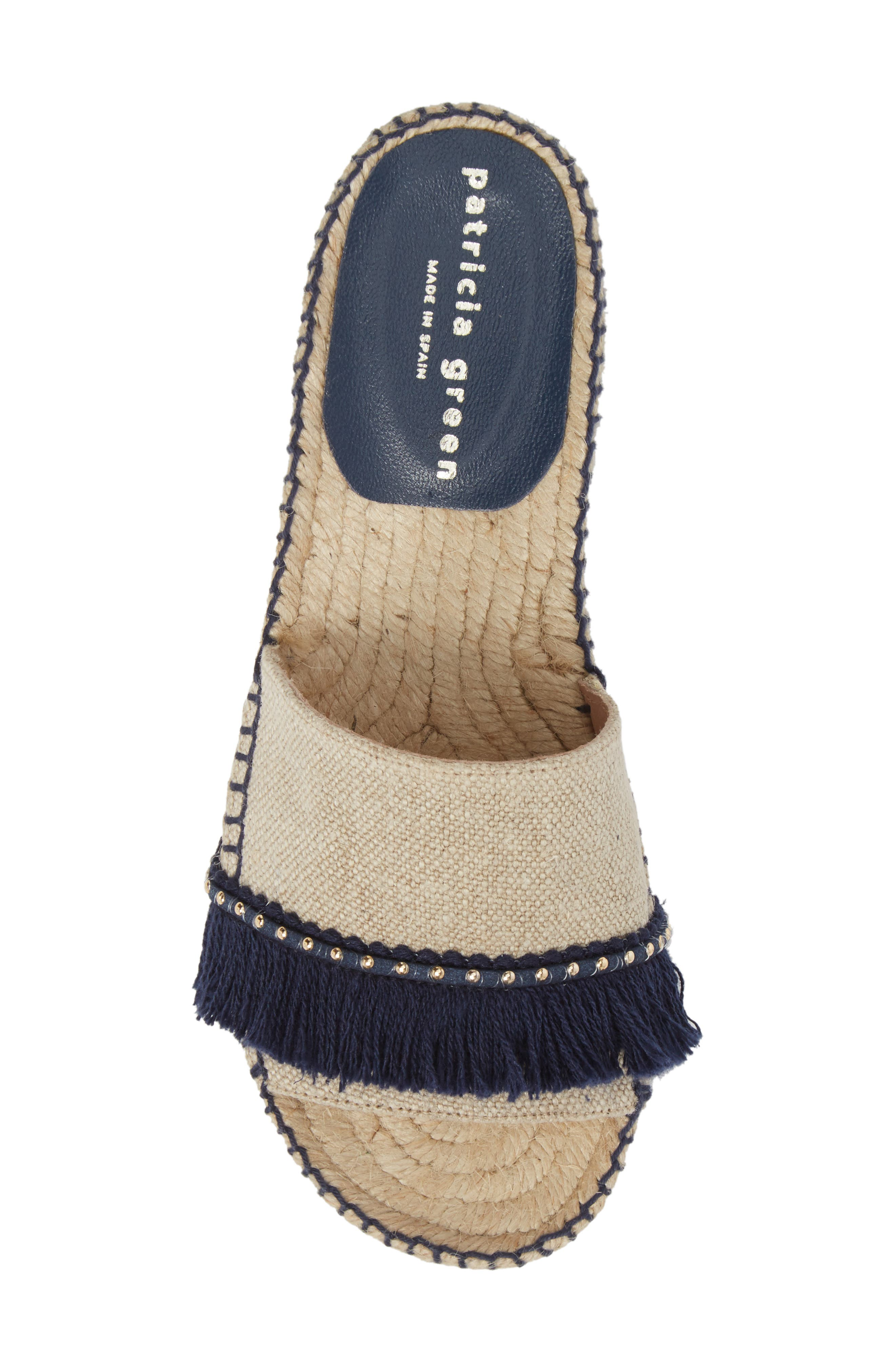 Bahama Espadrille Sandal,                             Alternate thumbnail 5, color,                             Navy Leather