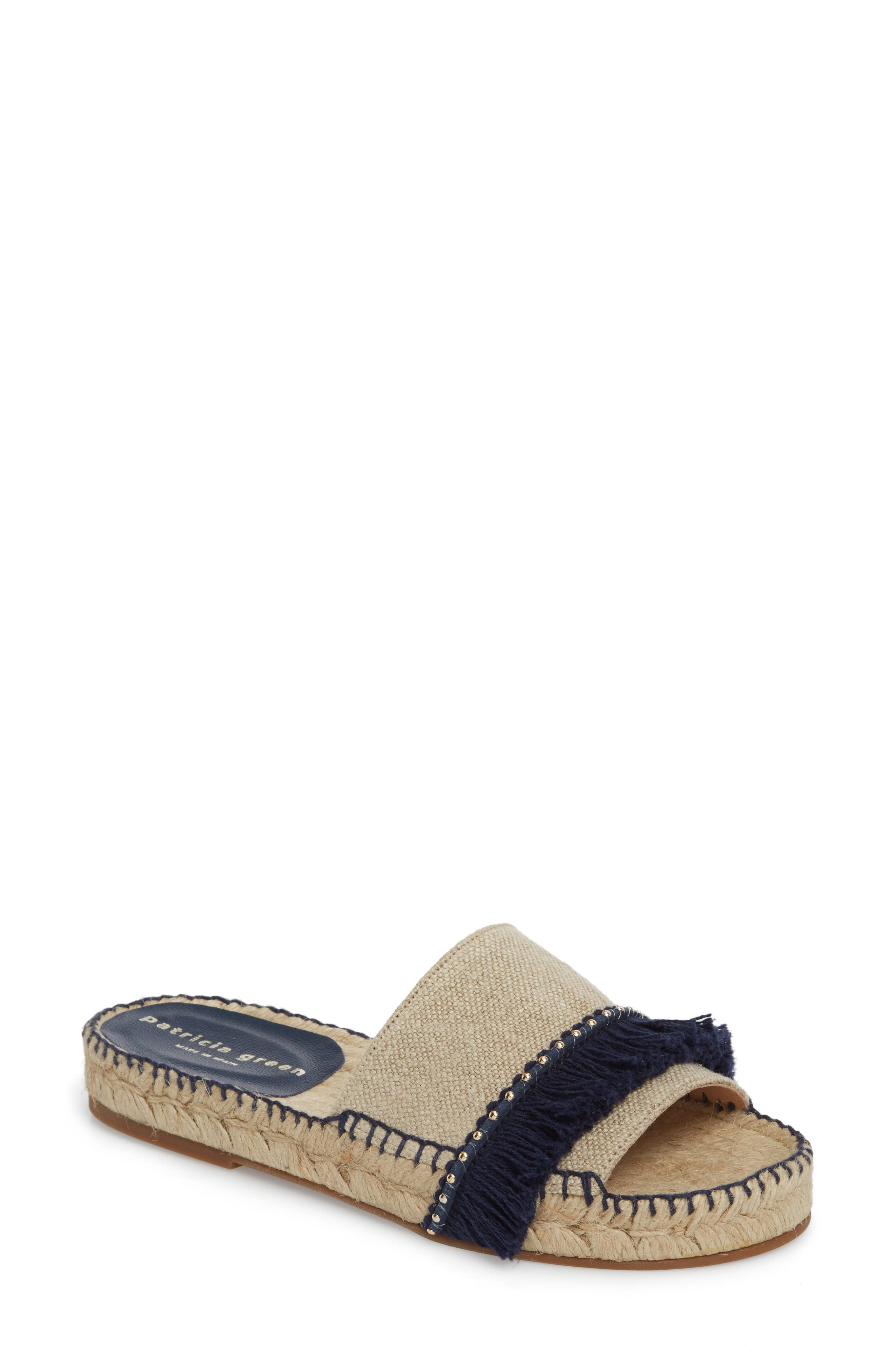 Bahama Espadrille Sandal,                         Main,                         color, Navy Leather