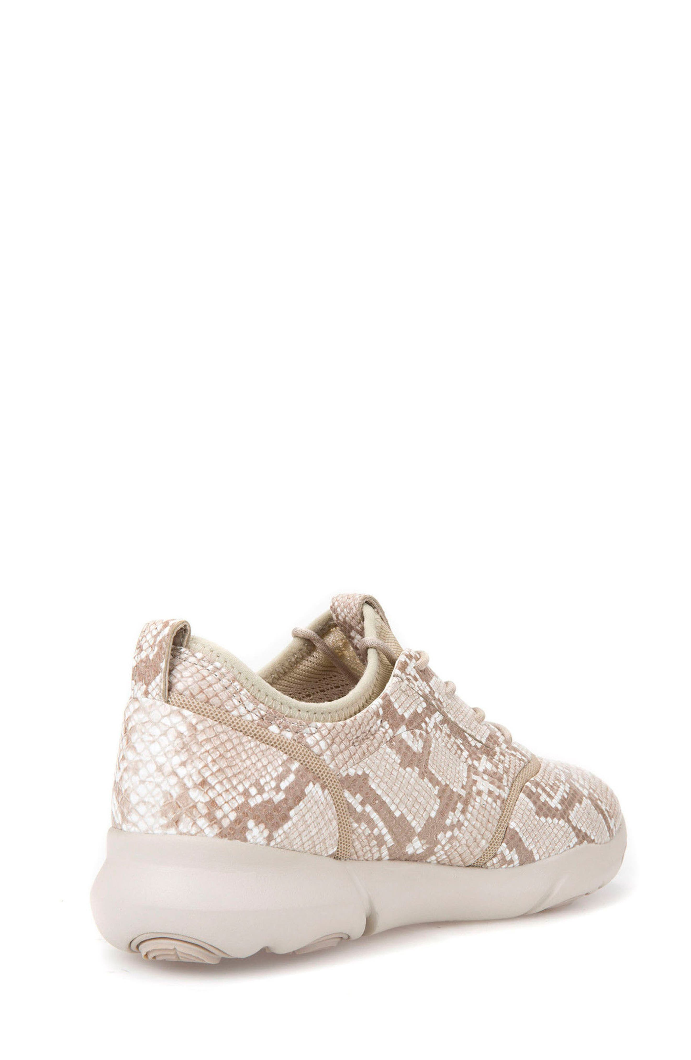 Nebula S 1 Python Embossed Sneaker,                             Alternate thumbnail 2, color,                             Beige Leather